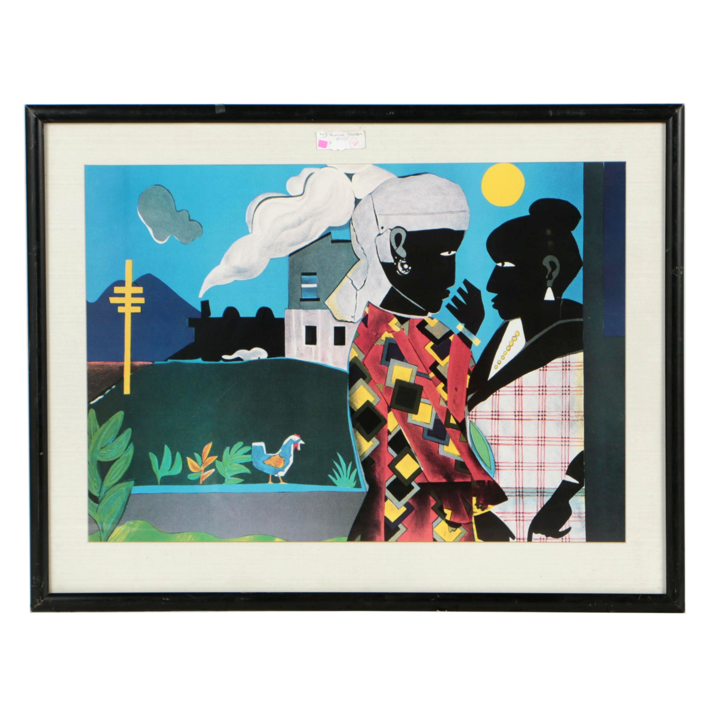 "Offset Lithograph after Romare Bearden ""The Conversation"""