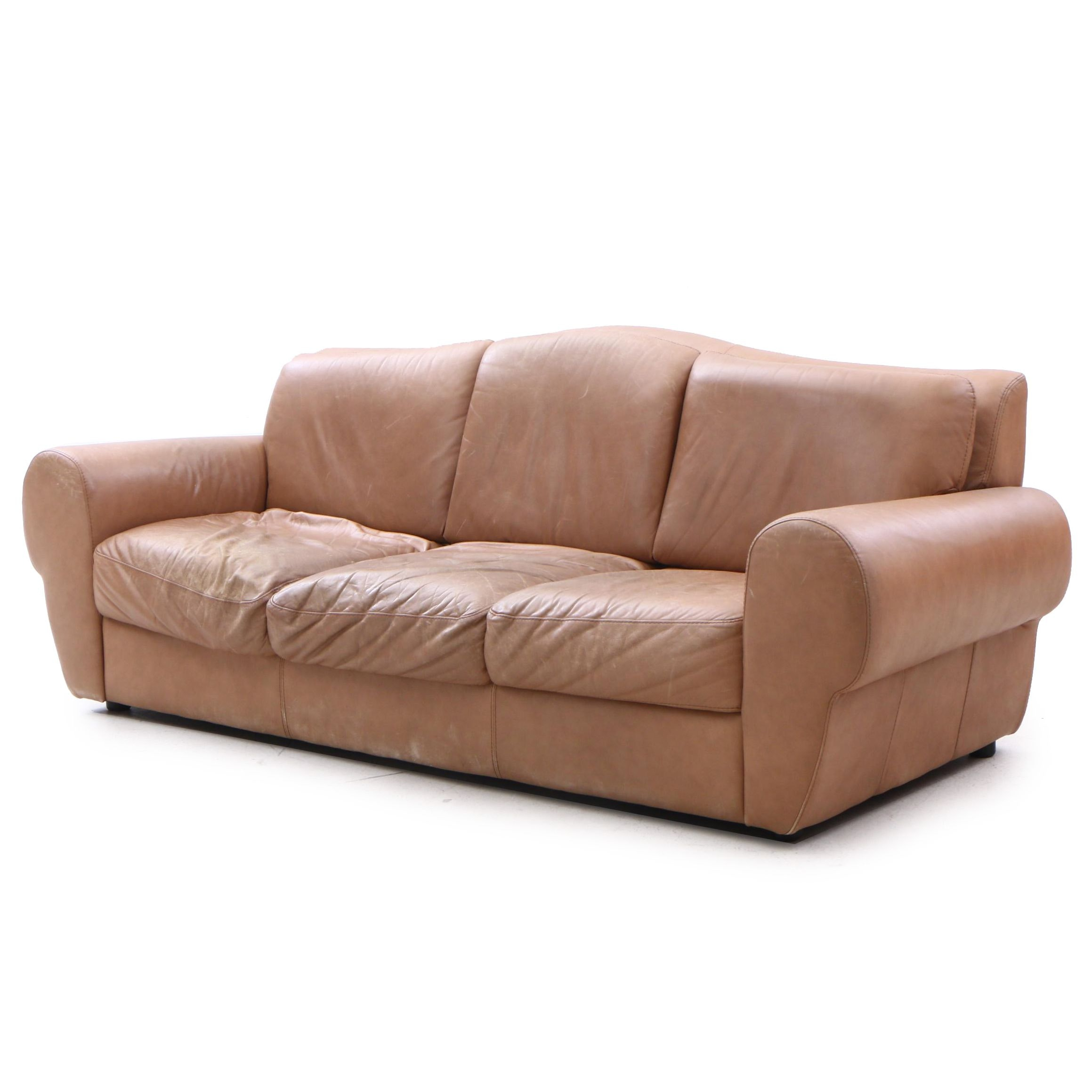 Leather Sofa by Italdesign, Late 20th Century