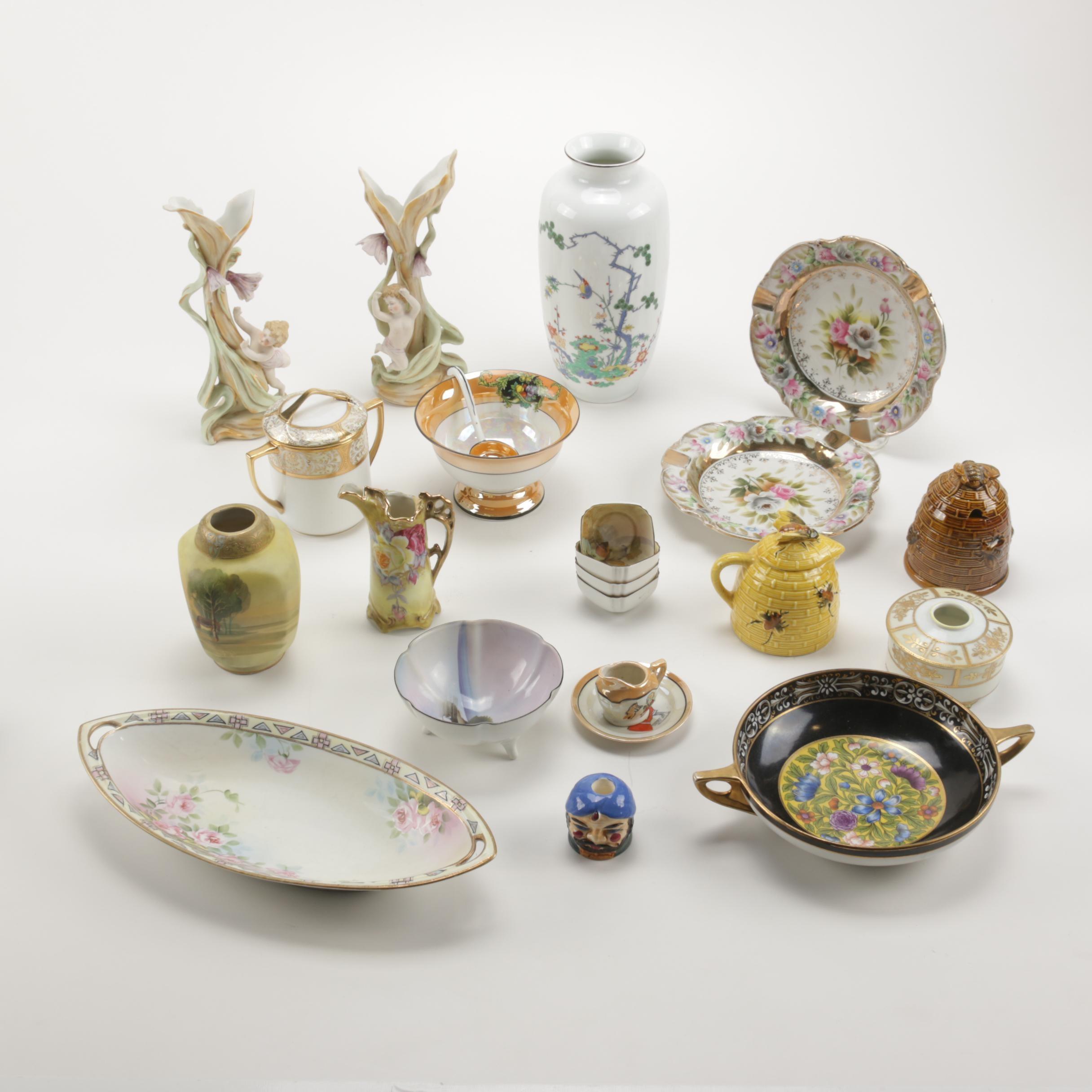 Japanese Hand-Painted Porcelain Featuring Nippon, Noritake, Arnart