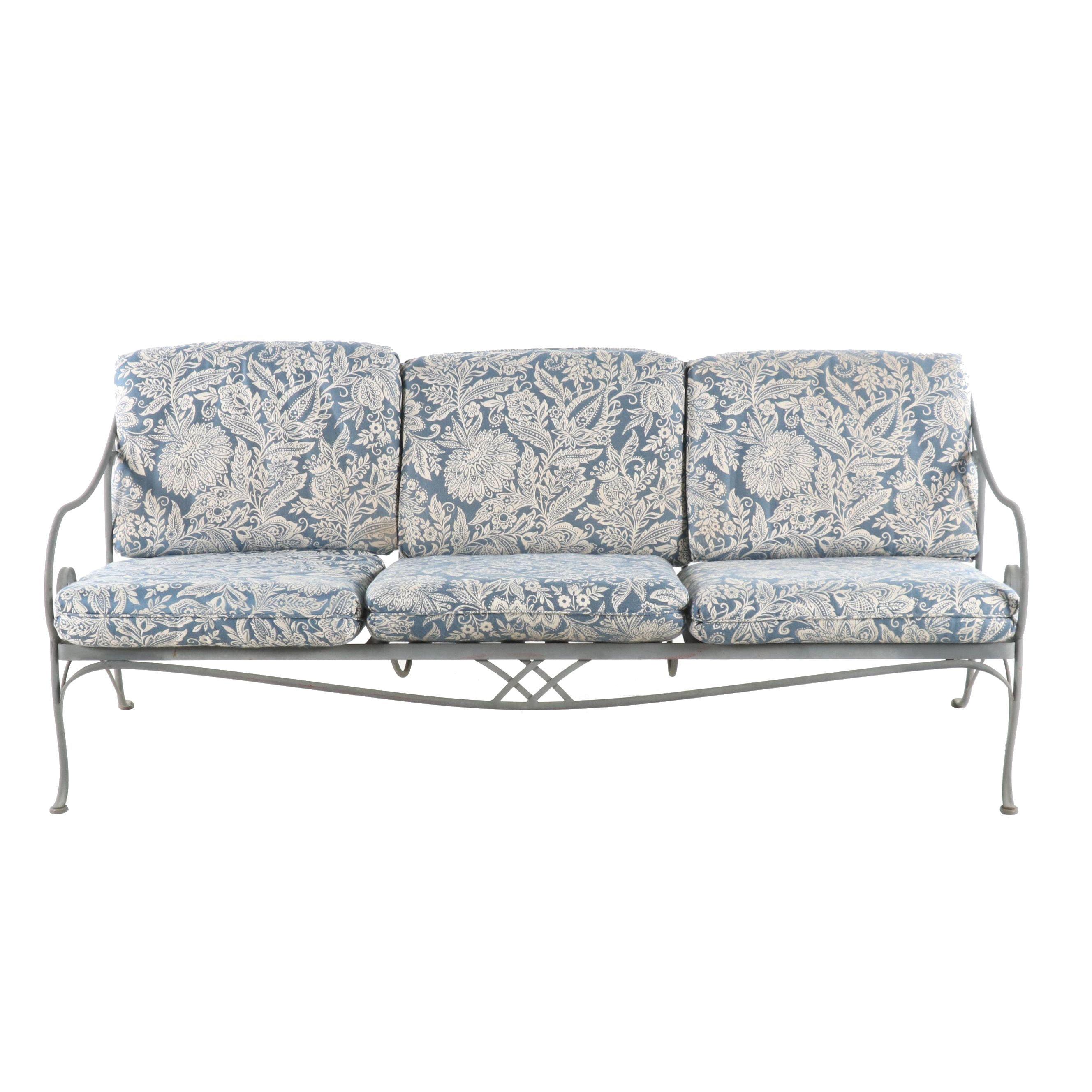 Metal Patio Sofa, Contemporary