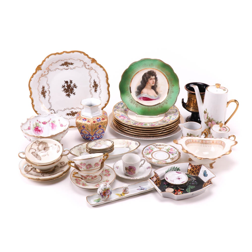 Decorative Ceramics with Coffee Service and Tableware