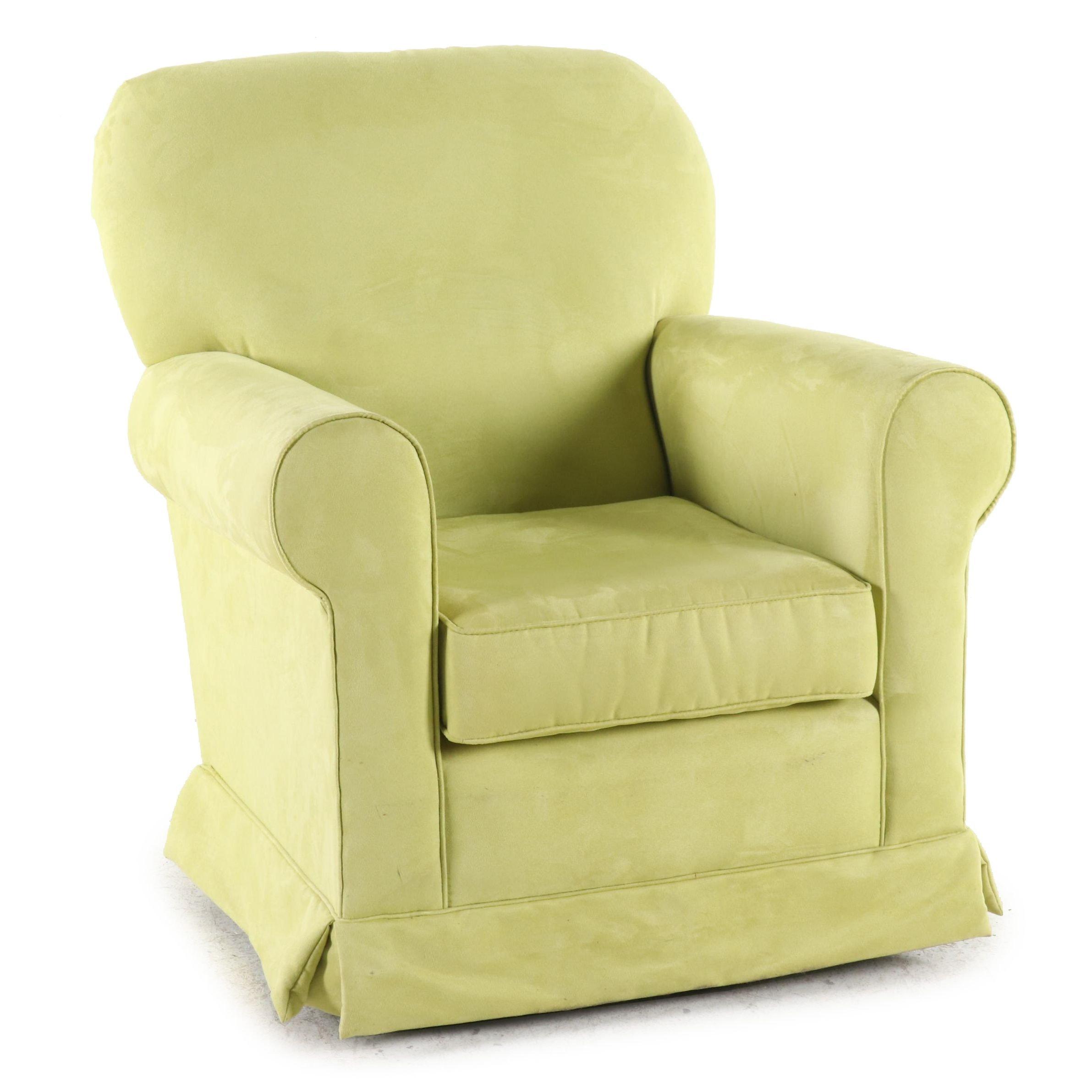 Contemporary Upholstered Swirl Rocker Armchair