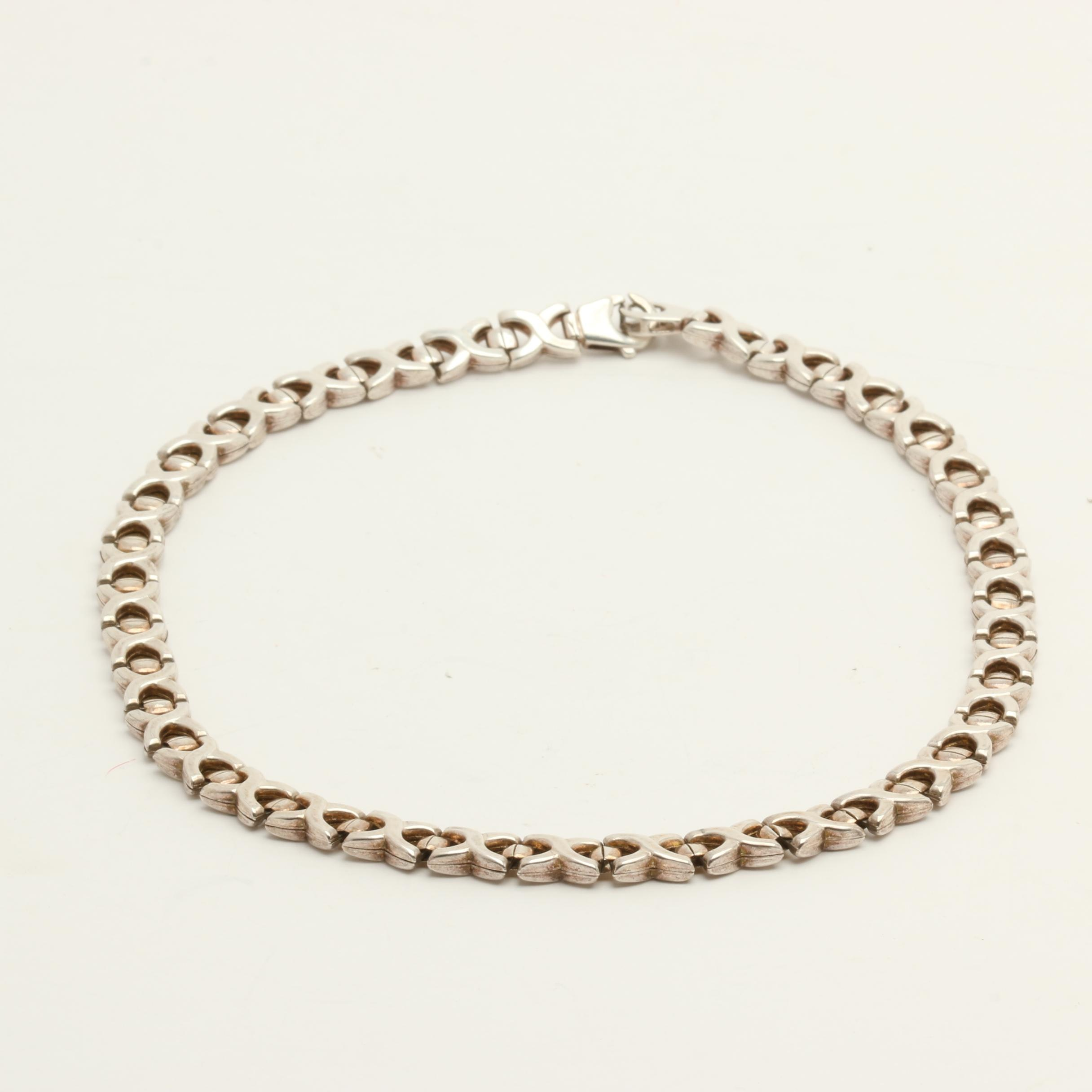 Gold Wash on Sterling Silver Chain Link Necklace