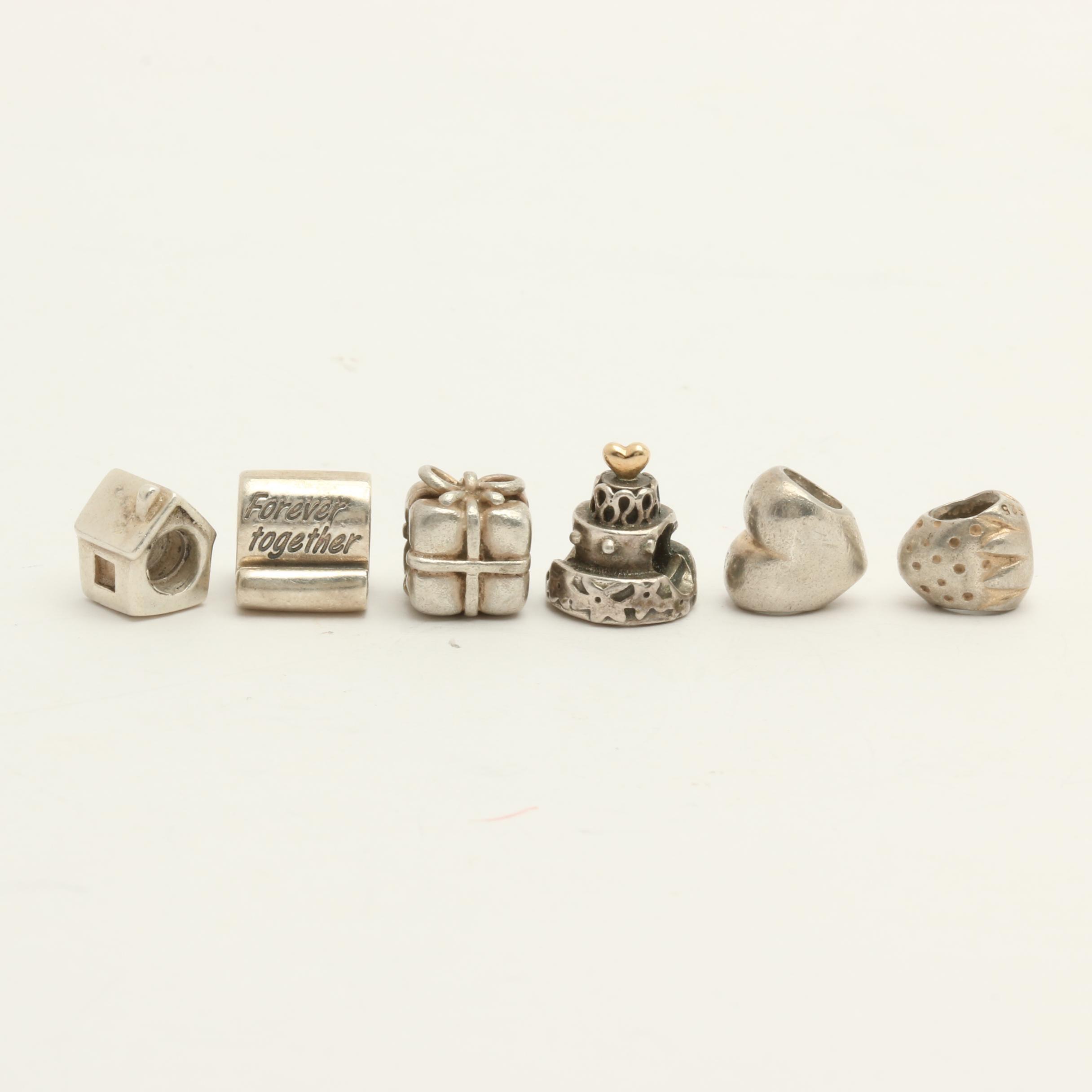 Pandora Sterling Silver Charms