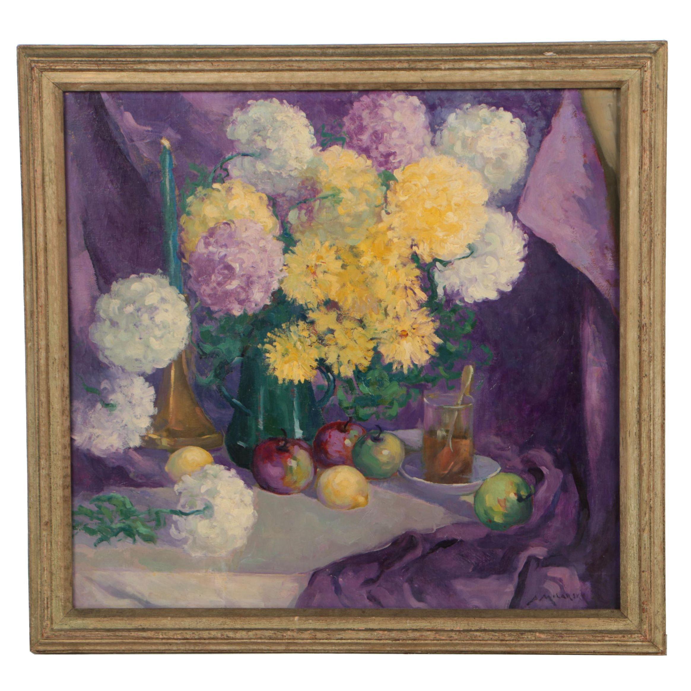 Abram Molarsky Still Life Oil Painting