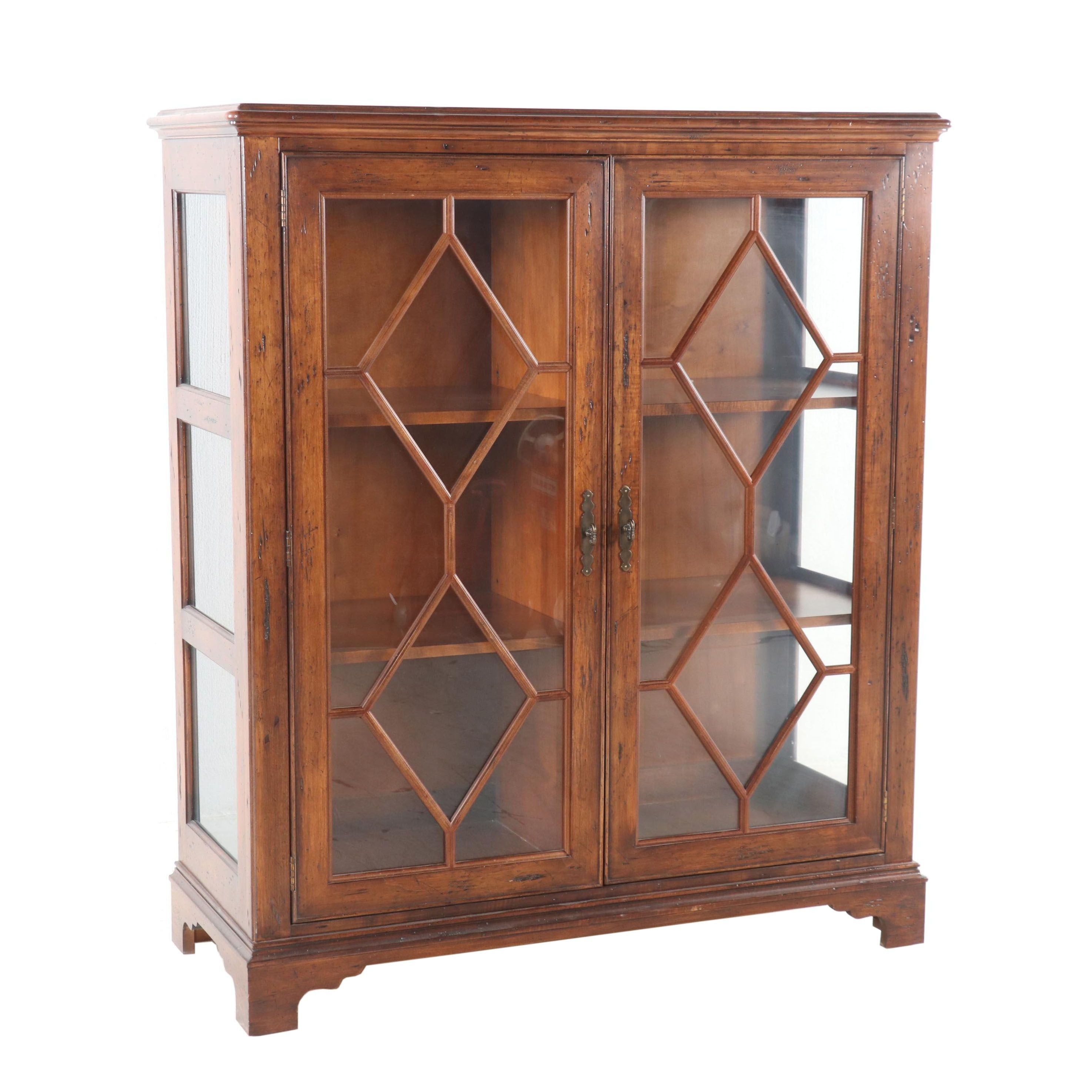 Federal Style Wooden Bookcase, Late 20th Century