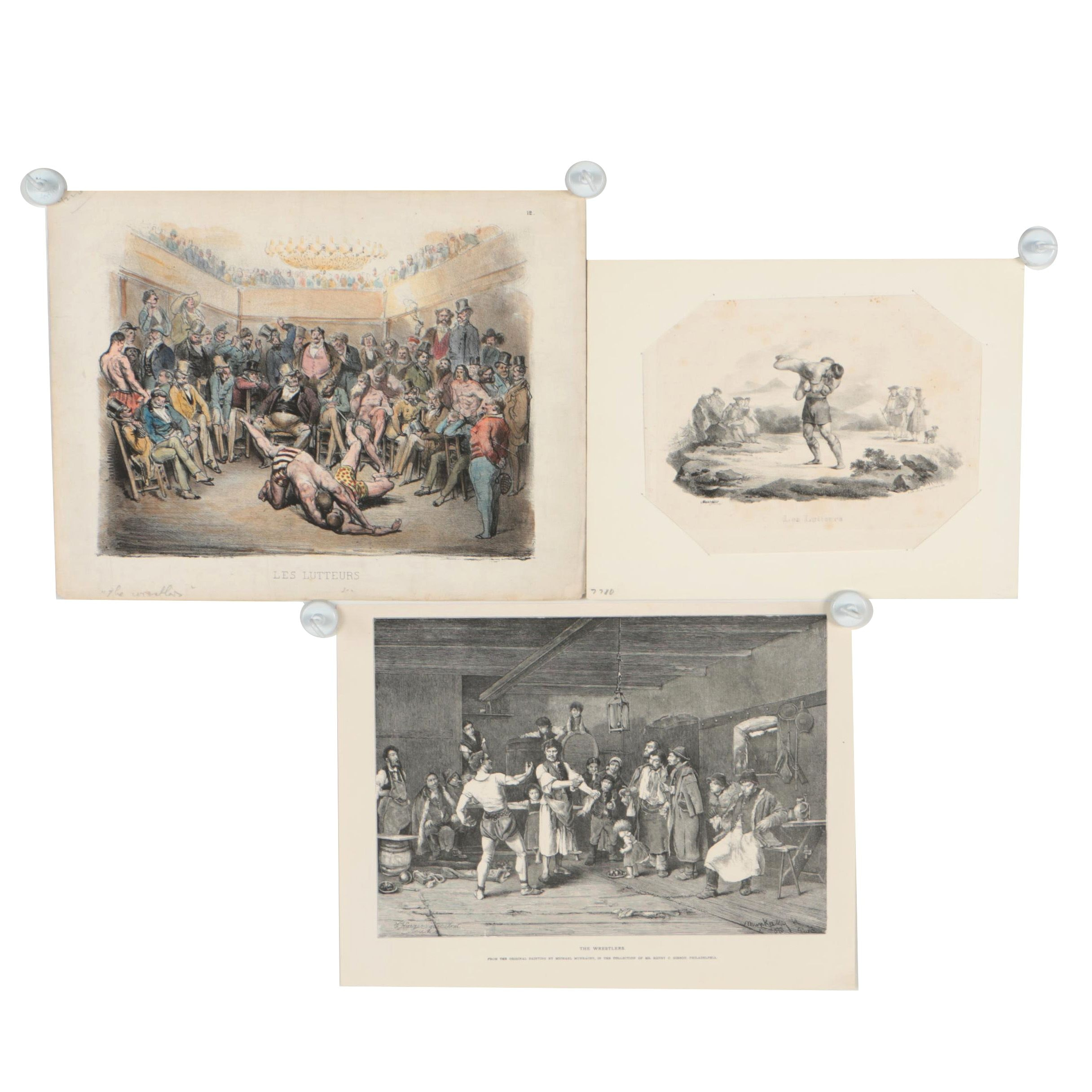 Gustave Doré and Georg Engelmann Lithographs and Wood Engraving after Munkácsy