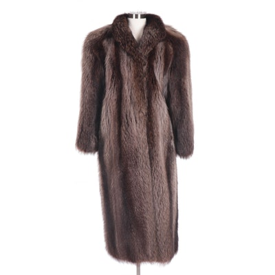 Women's Christian Dior Raccoon Fur Coat from Bonwit Teller, 1980s Vintage