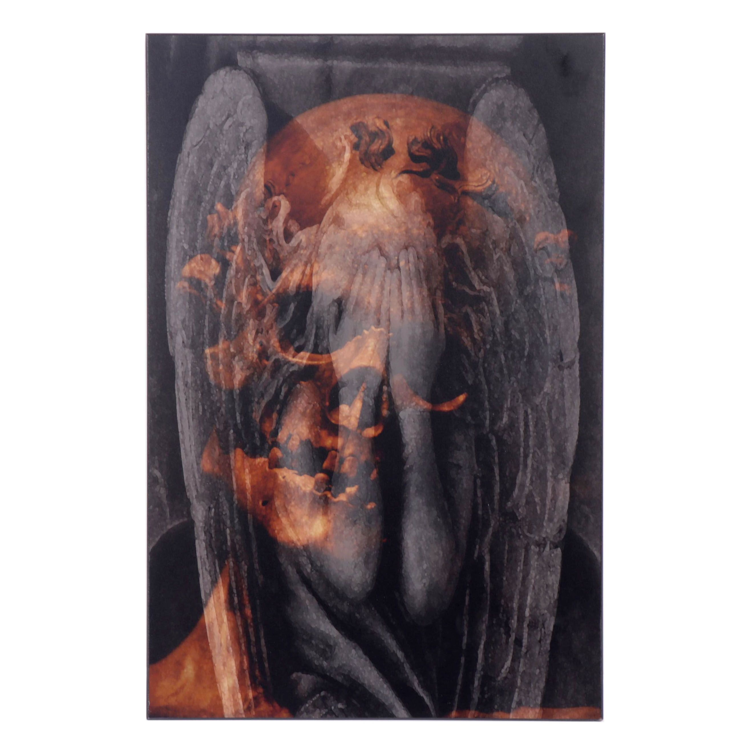 Victoria A. Marchio Skull and Angel Mixed Media Photograph