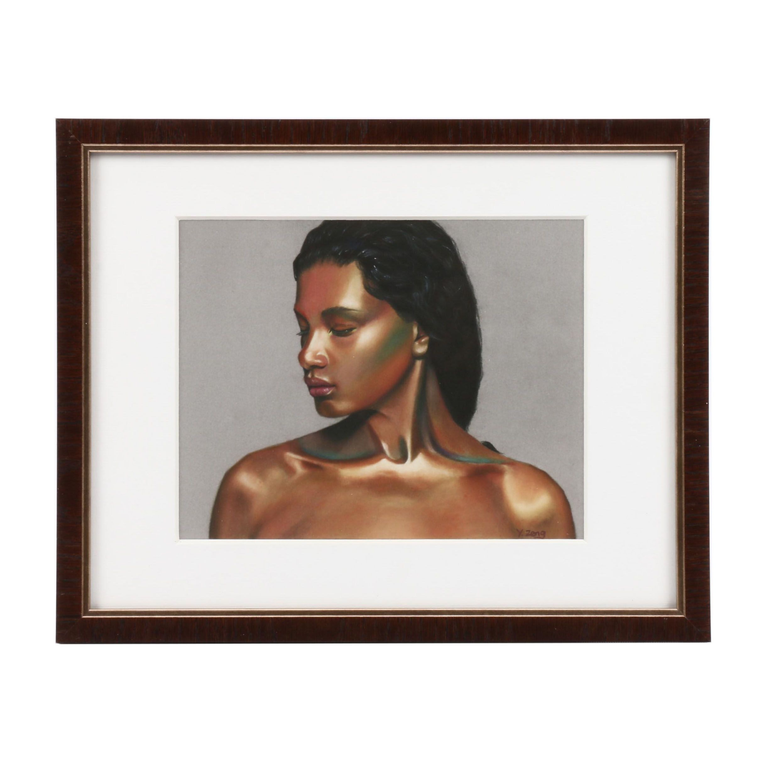 """Giclee Print after Y. Zeng """"Woman"""""""