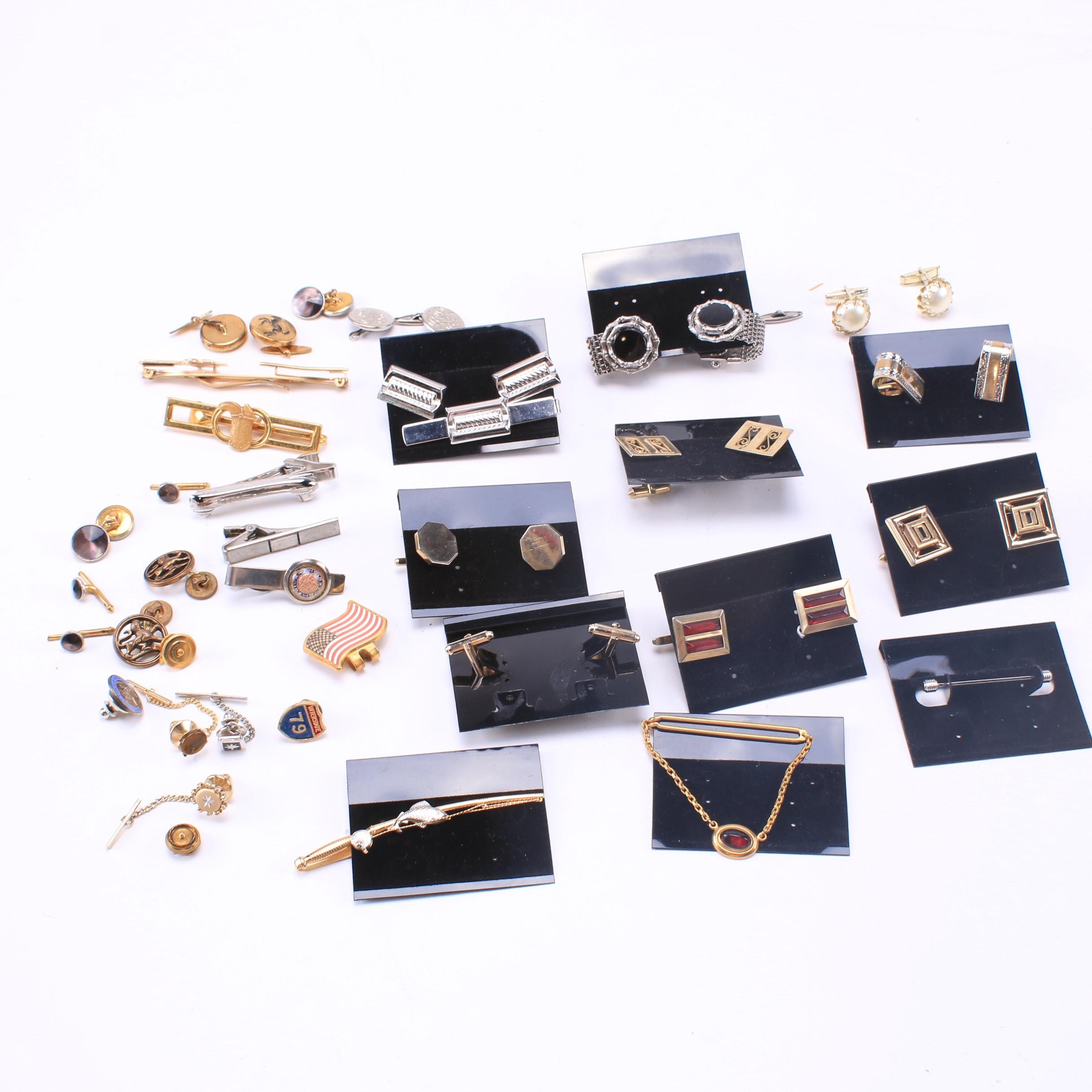 Cuff Links, Tie Tacks and Tie Pins