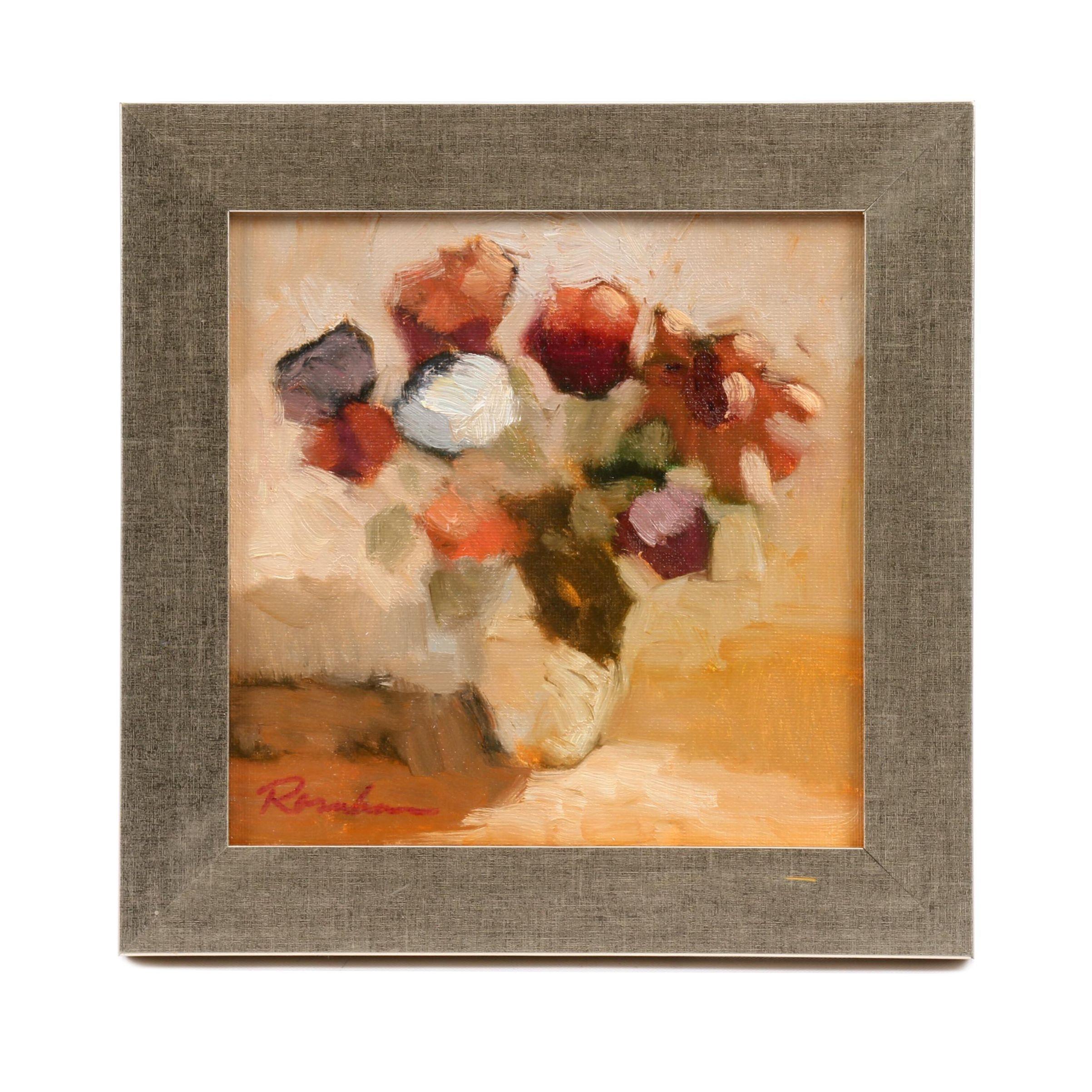 Salley Rosenbaum Floral Still Life Oil Painting