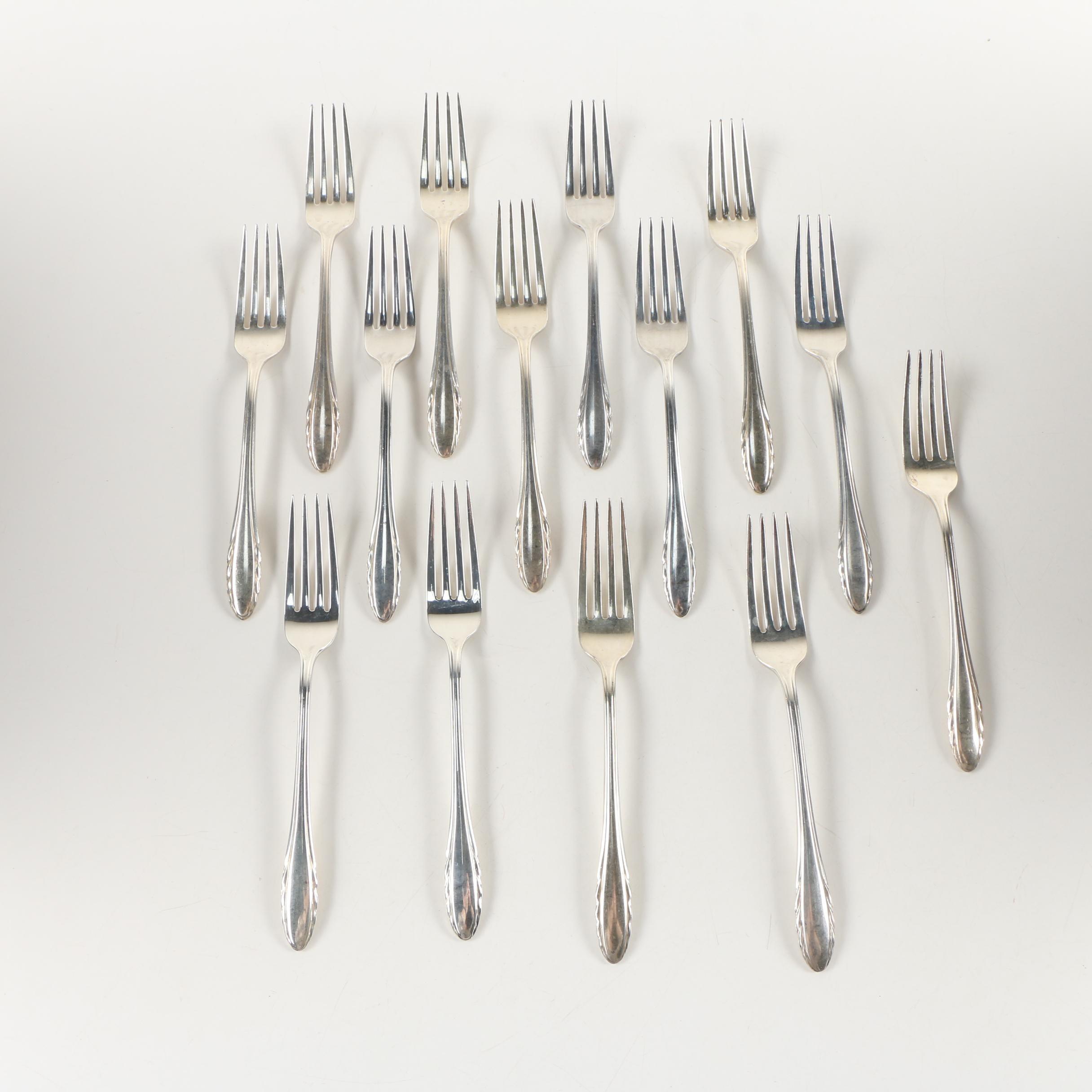 "Gorham ""Lyric"" Sterling Silver Dinner Forks, Mid-Century"