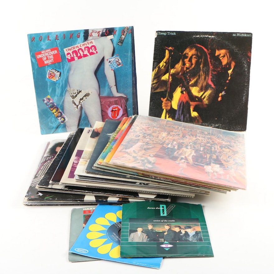 Assorted Rock and Pop Records featuring Foreigner and Heart, 1970s–80s