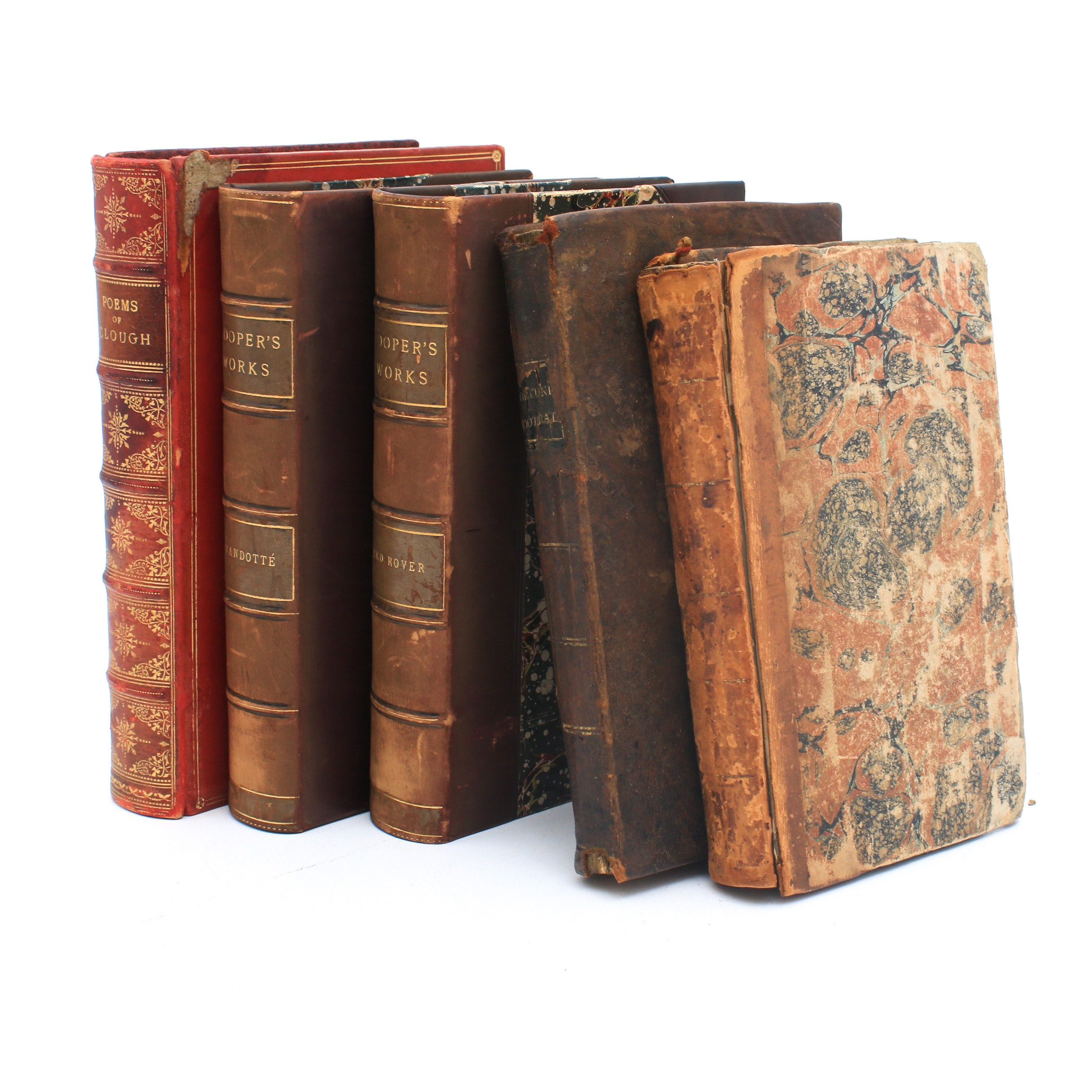 Antique Poetry Books and Novels Featuring James Fenimore Cooper