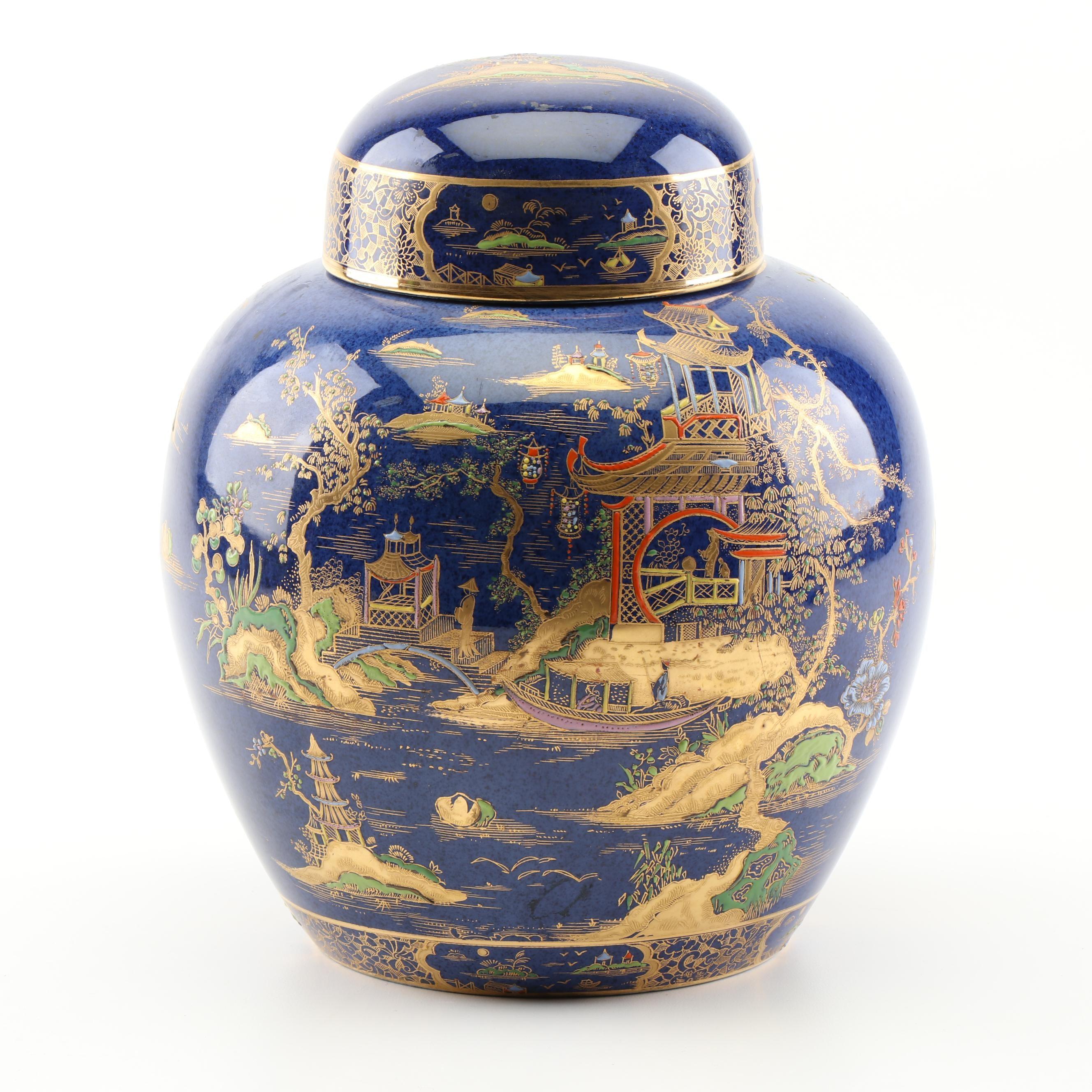 English Carlton Ware Chinoiserie Ginger Jar
