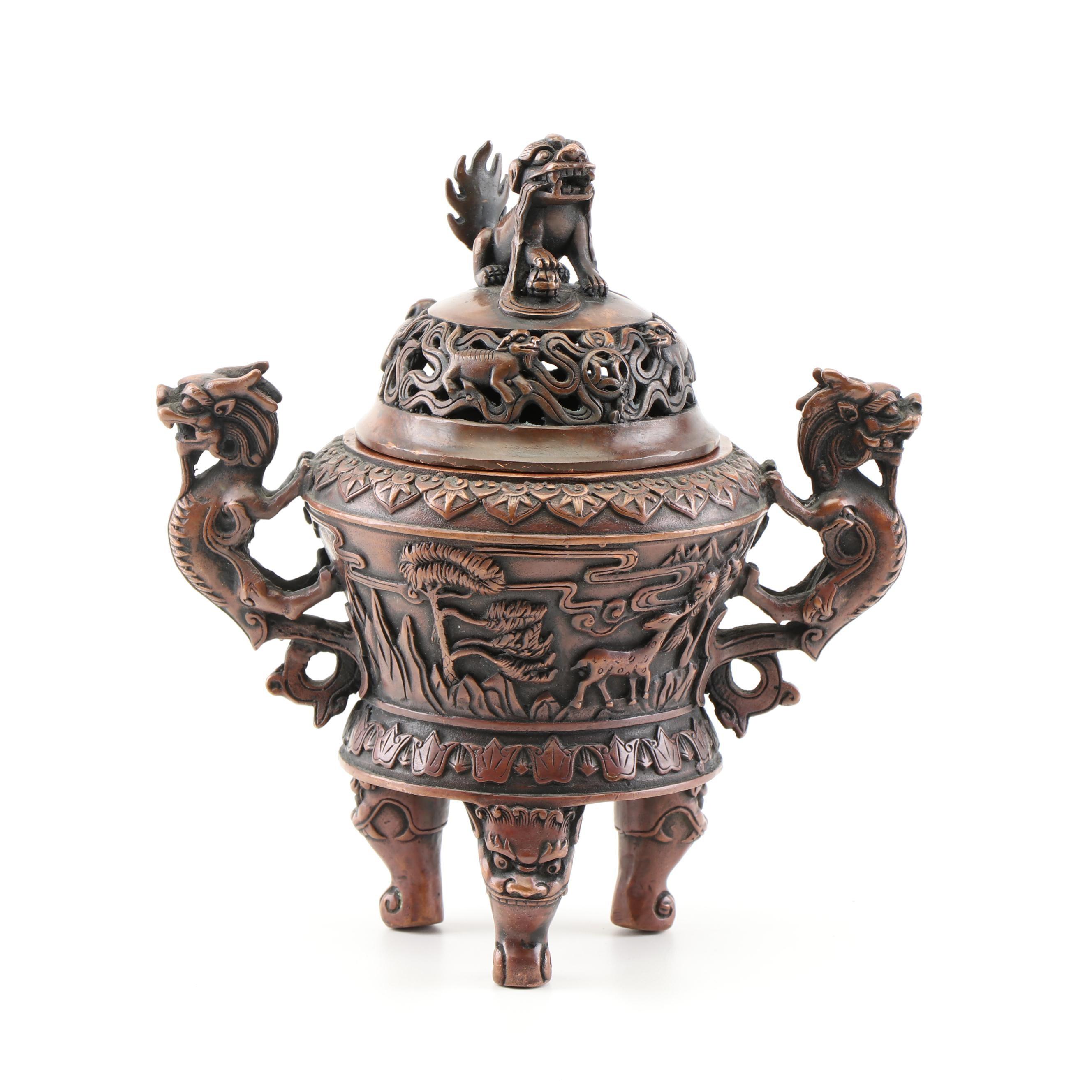 Chinese Copper Incense Burner