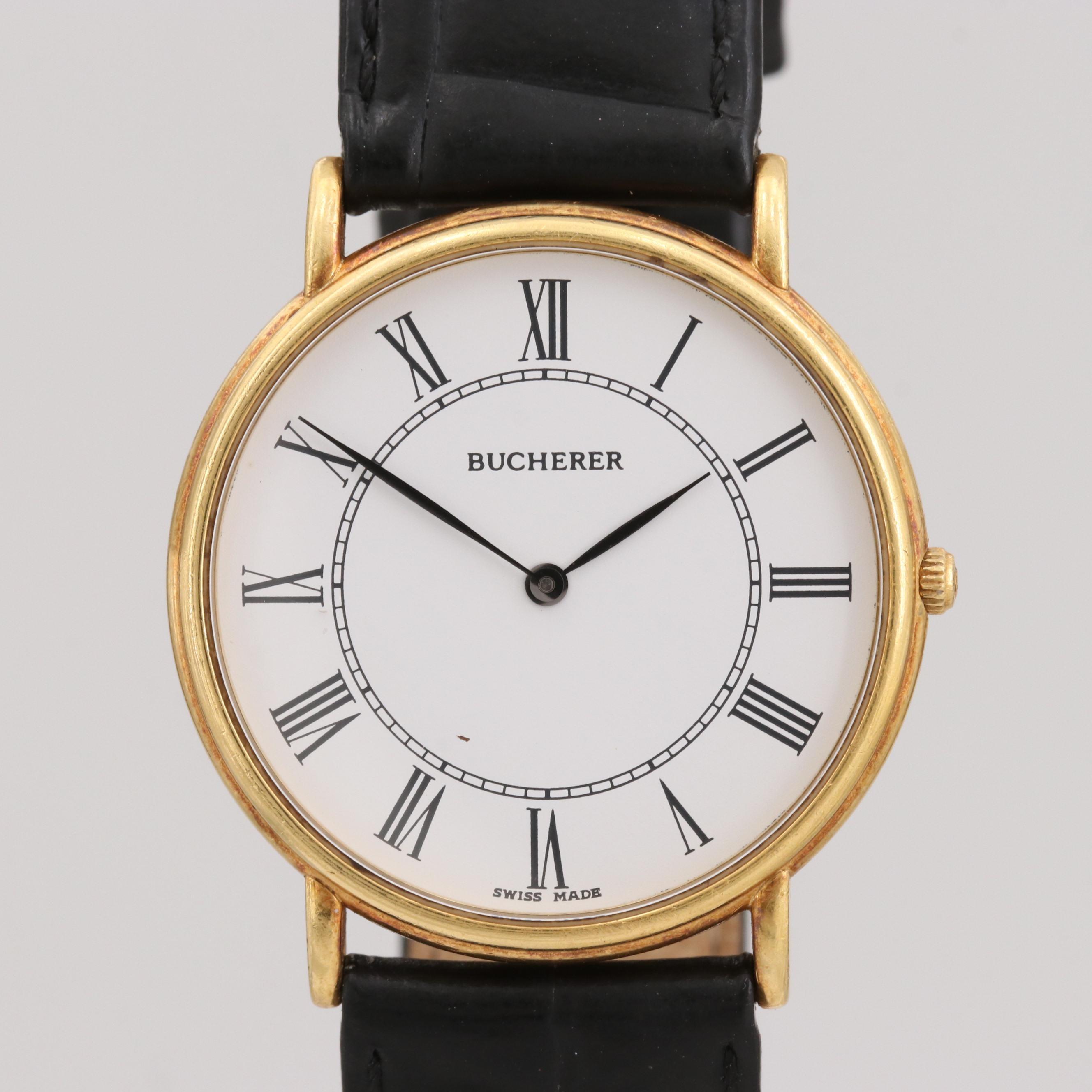 Bucherer 18K Yellow Gold Quartz Wristwatch