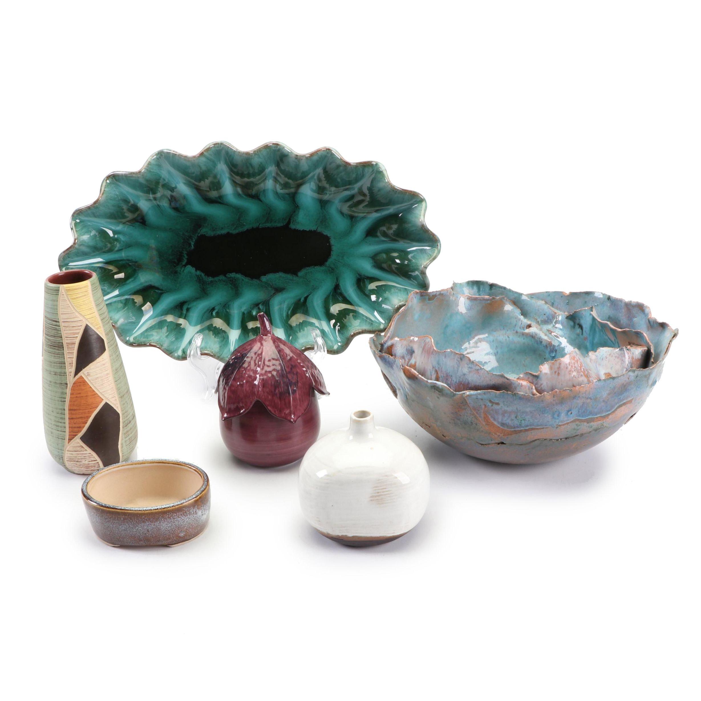 Handbuilt and Cast Stoneware and Porcelain Home Decor