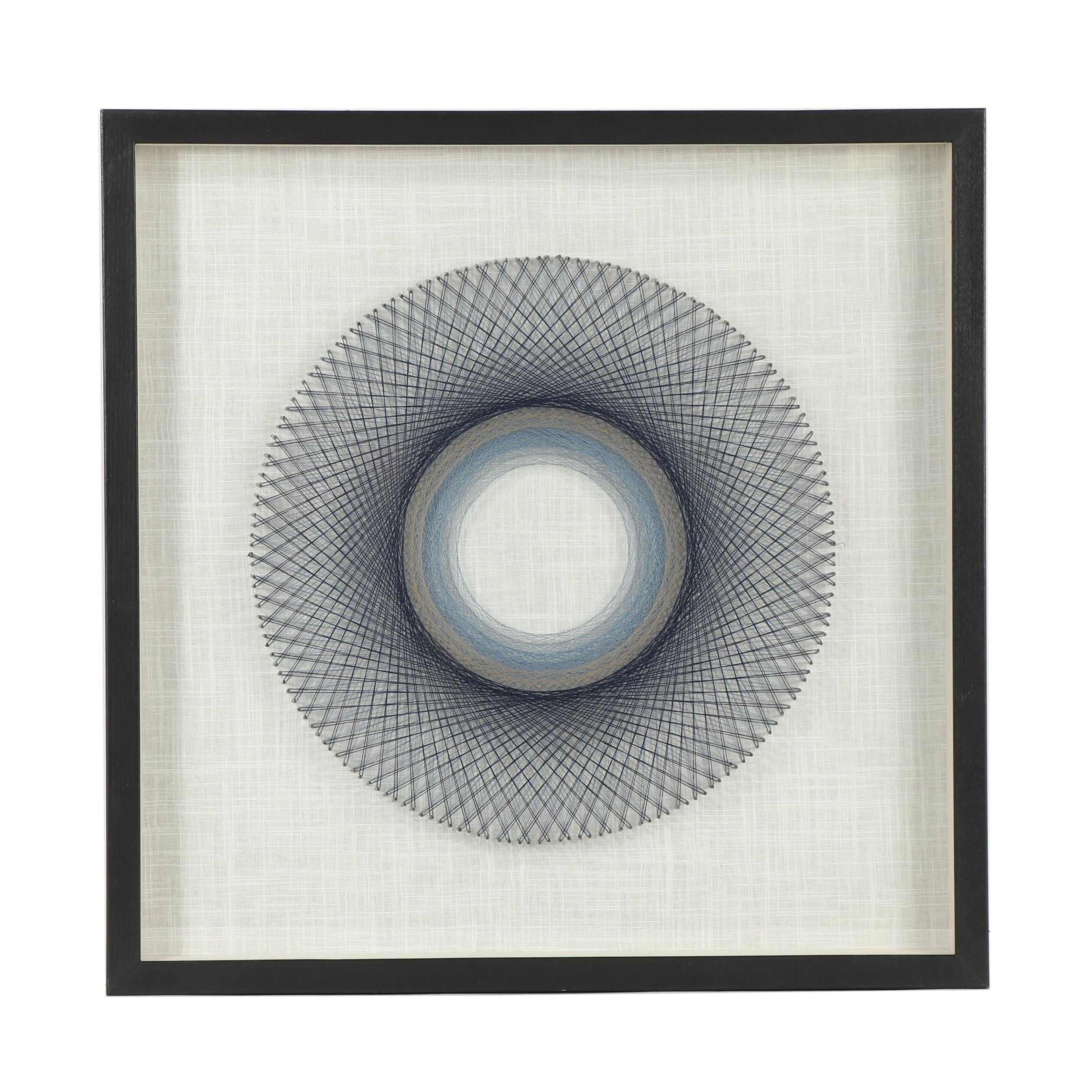 Contemporary Pin and Thread Wall Art