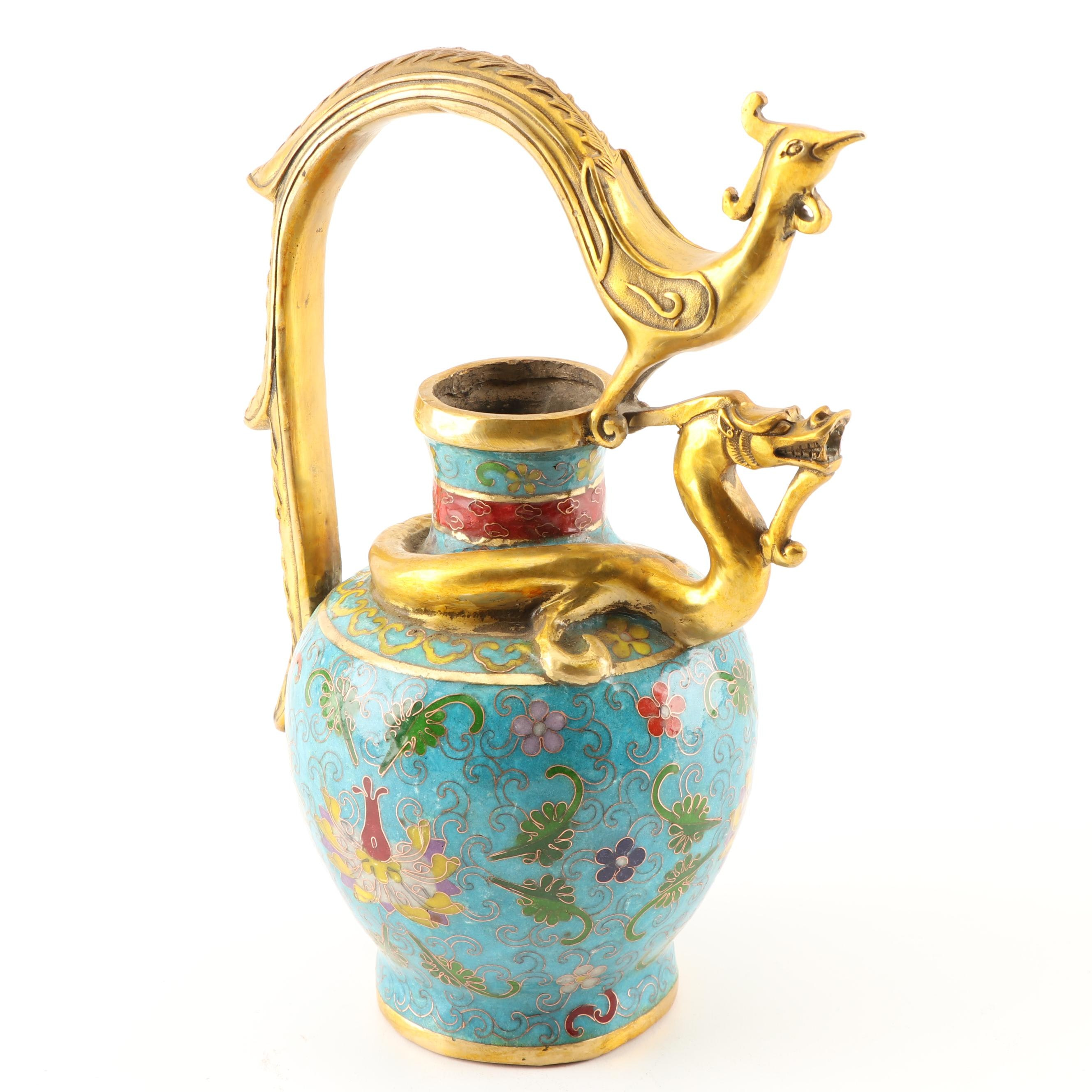 Chinese Cloisonné Pitcher