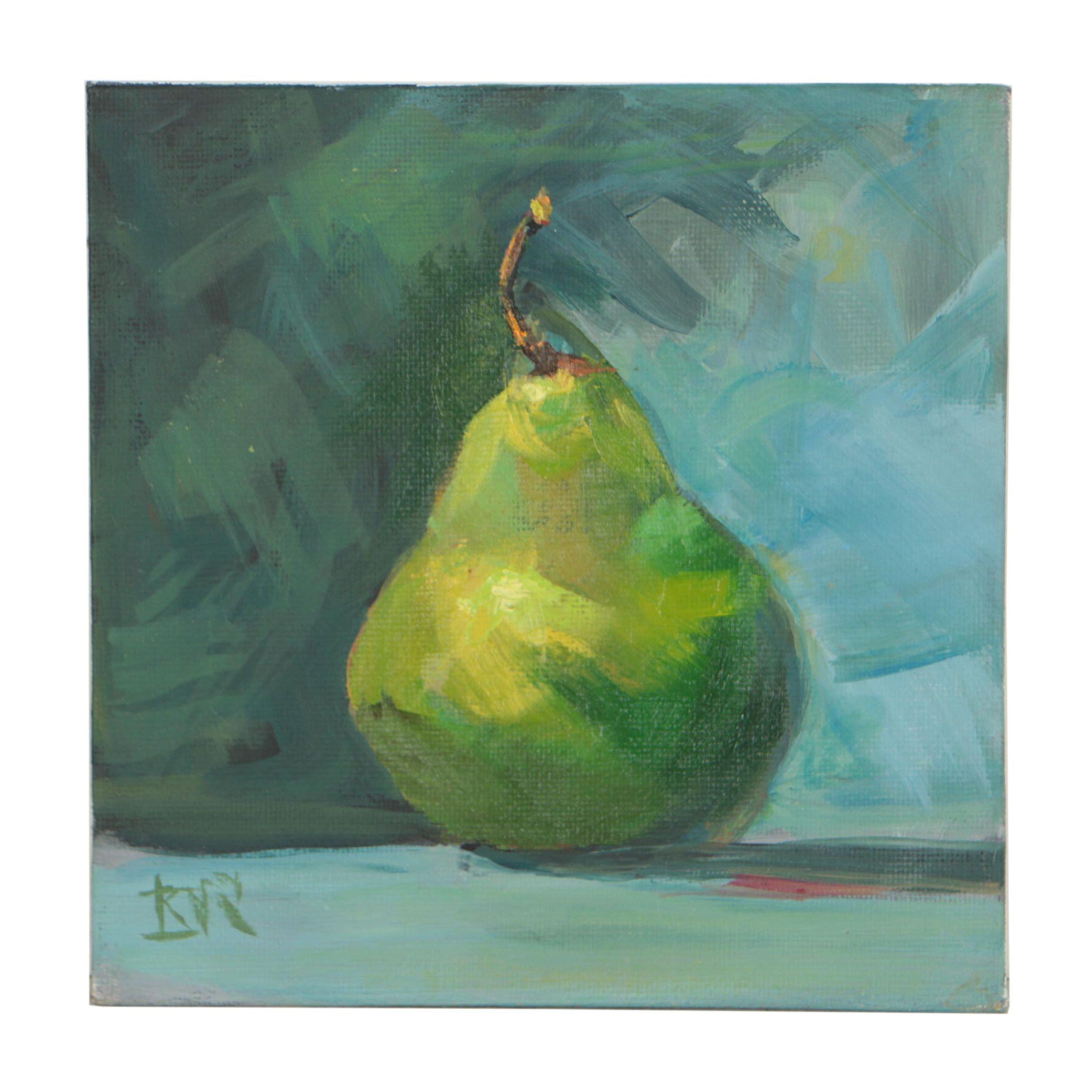 Kimberly Dana Ryan Oil Painting Pear Still Life