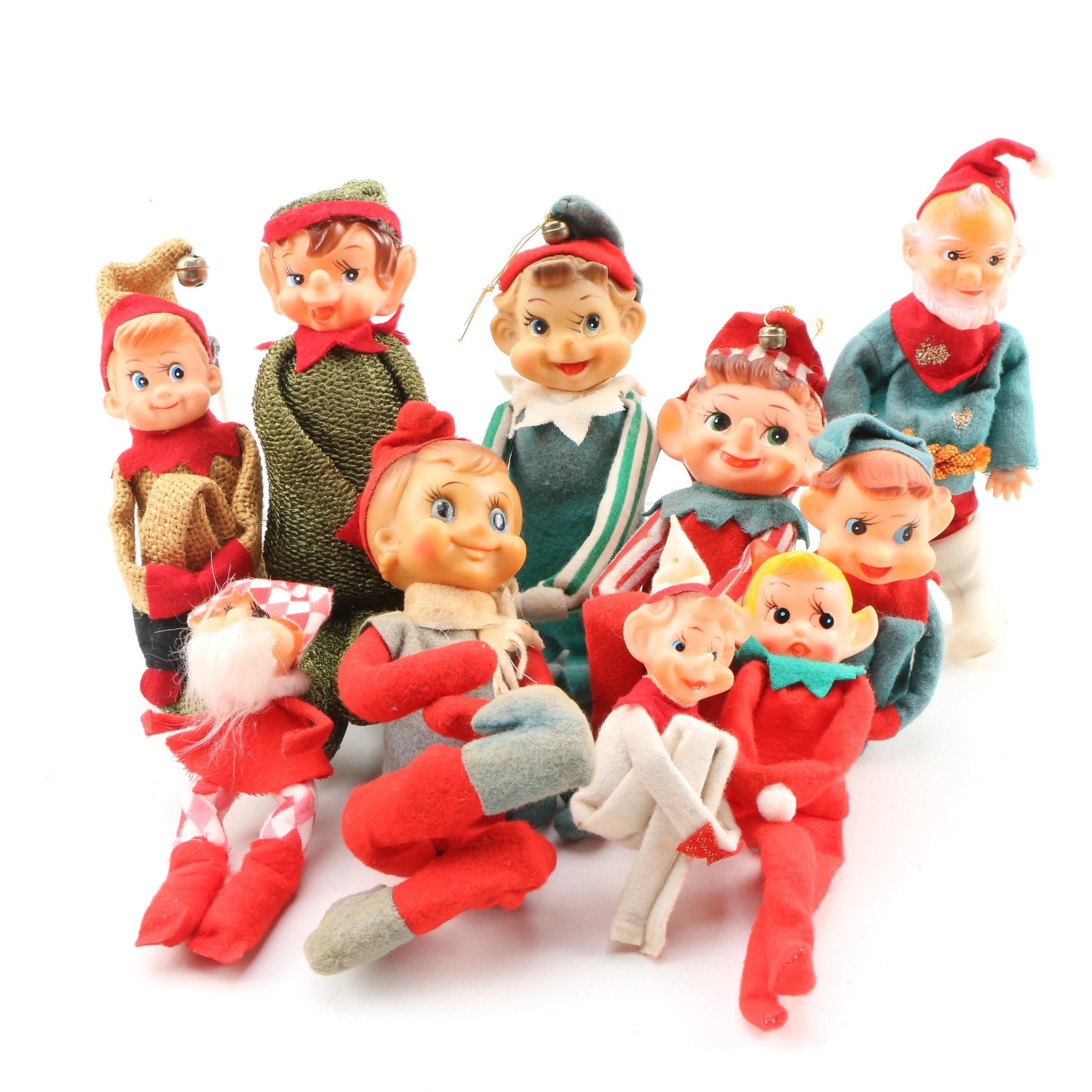 Vintage Christmas Elves