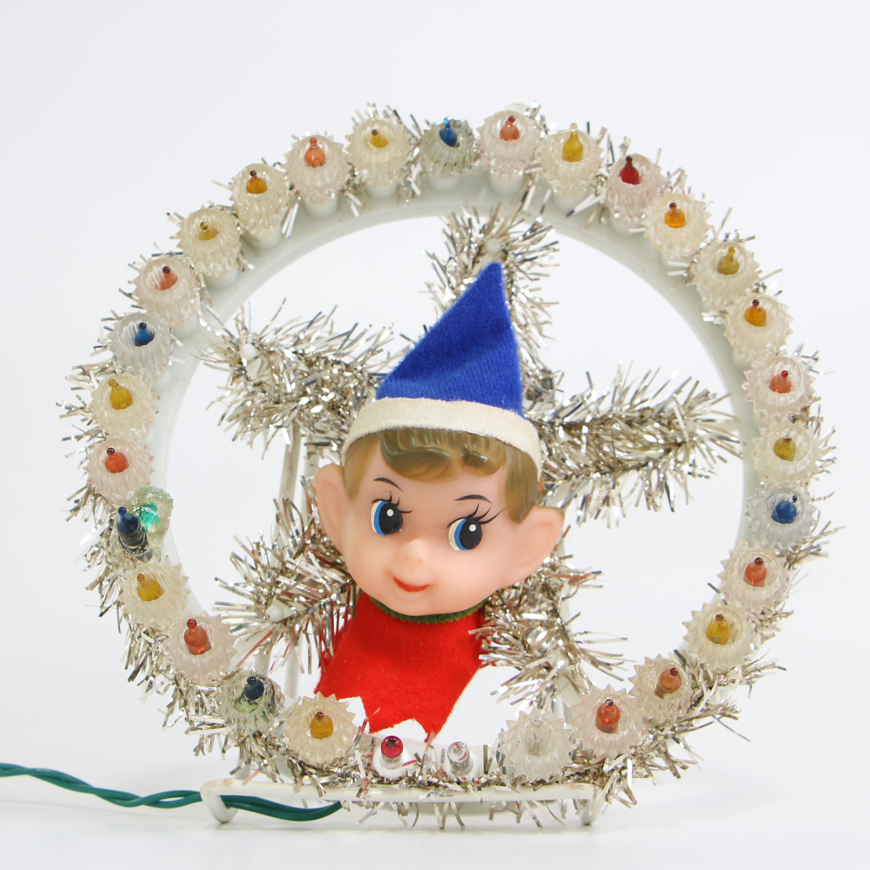 Lighted Christmas Decoration with Elf