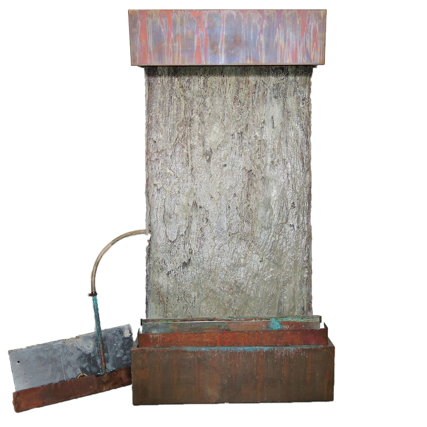 Indoor Slate and Copper Wall Fountain