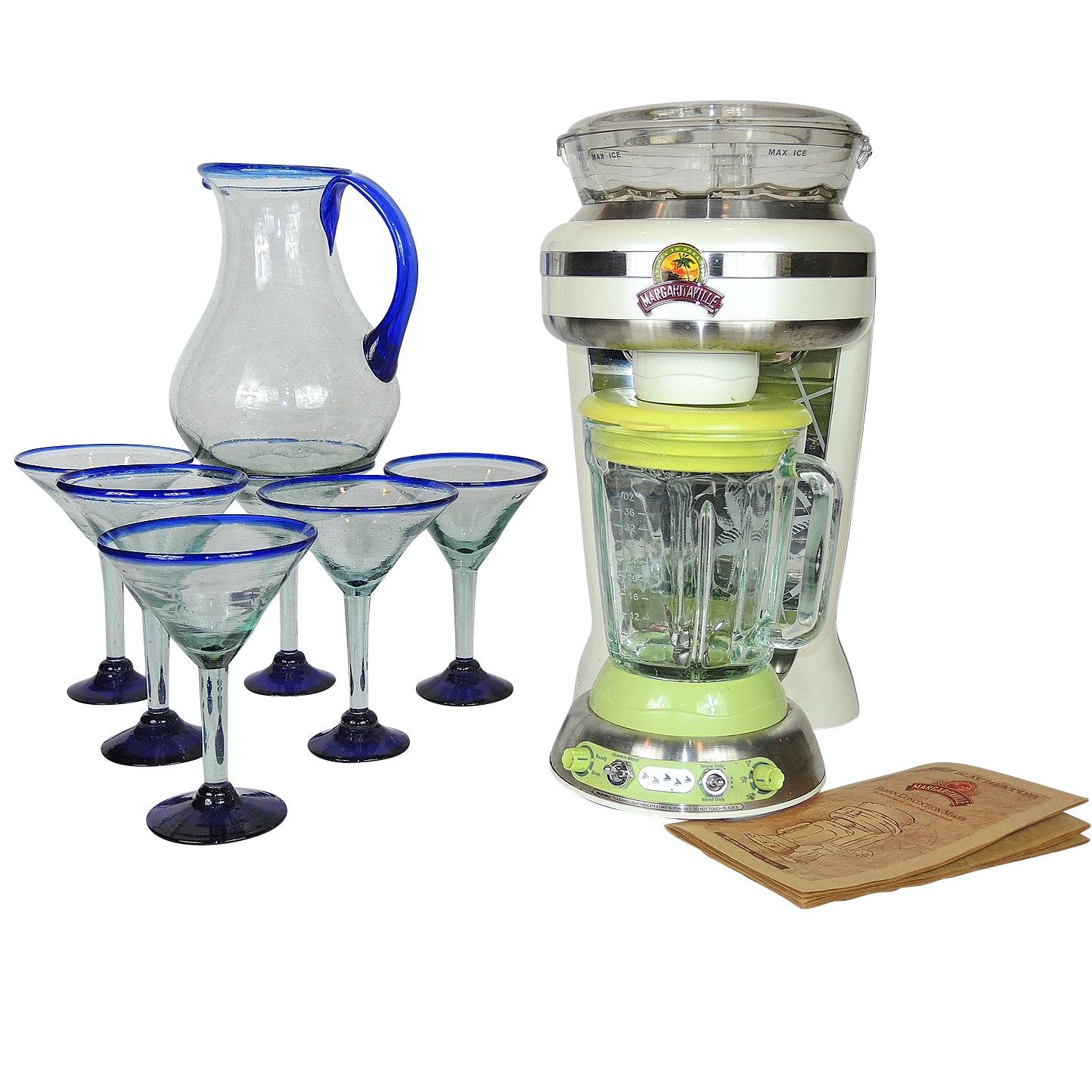 "Margaritaville ""The Navigator"" Frozen Concoction Maker, Pitcher and Glass Set"