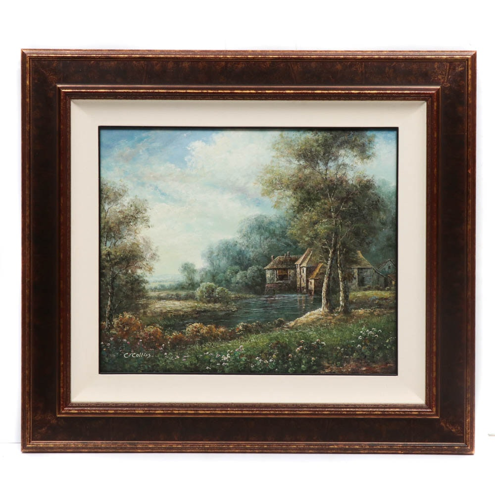 Charles Collins Landscape Oil Painting
