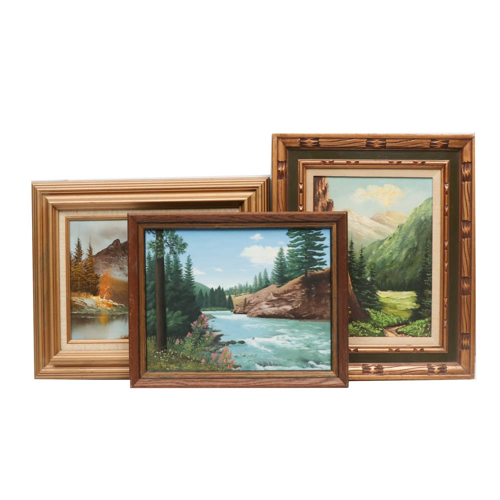 Mountain Landscape Oil Paintings