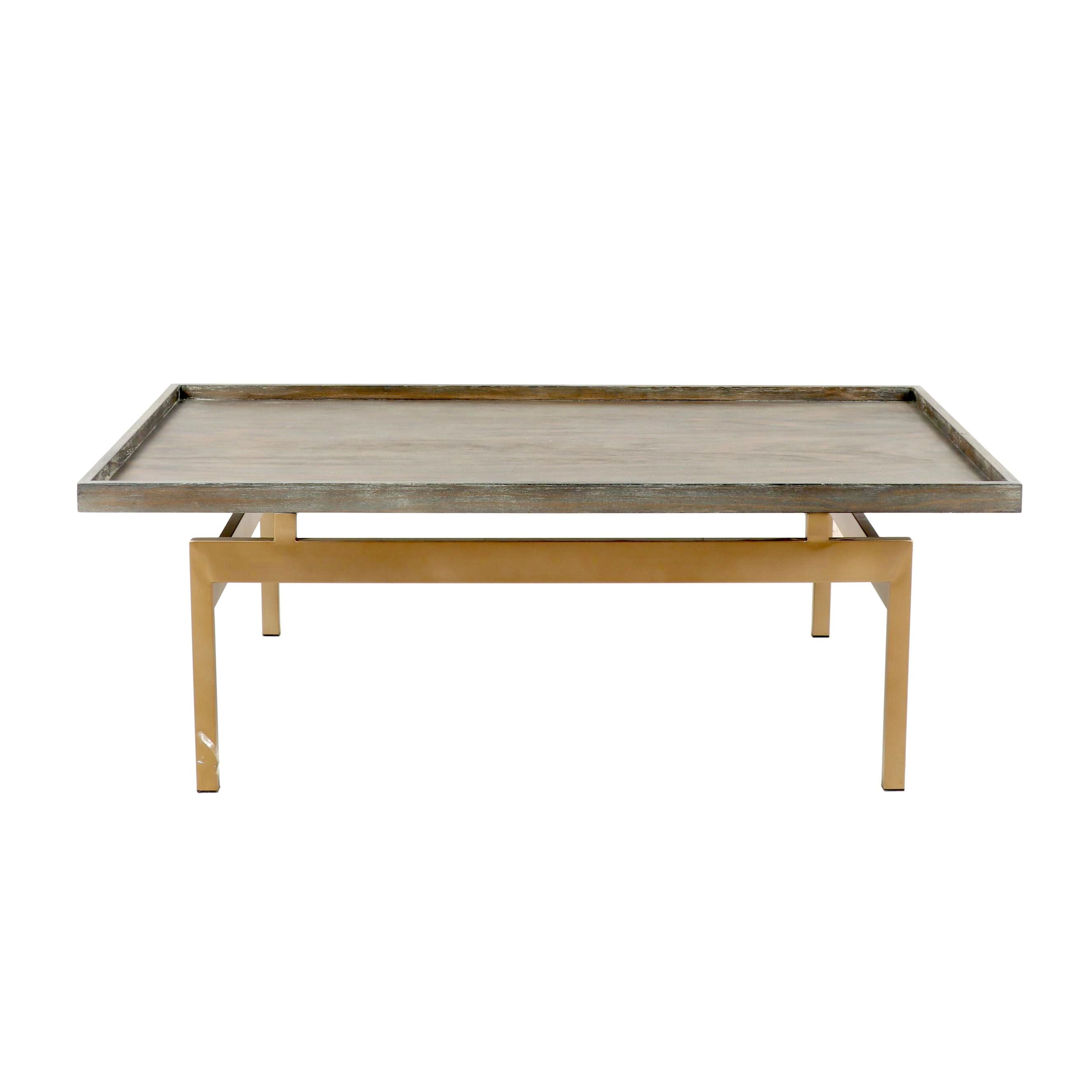 Metal and Wood Coffee Table