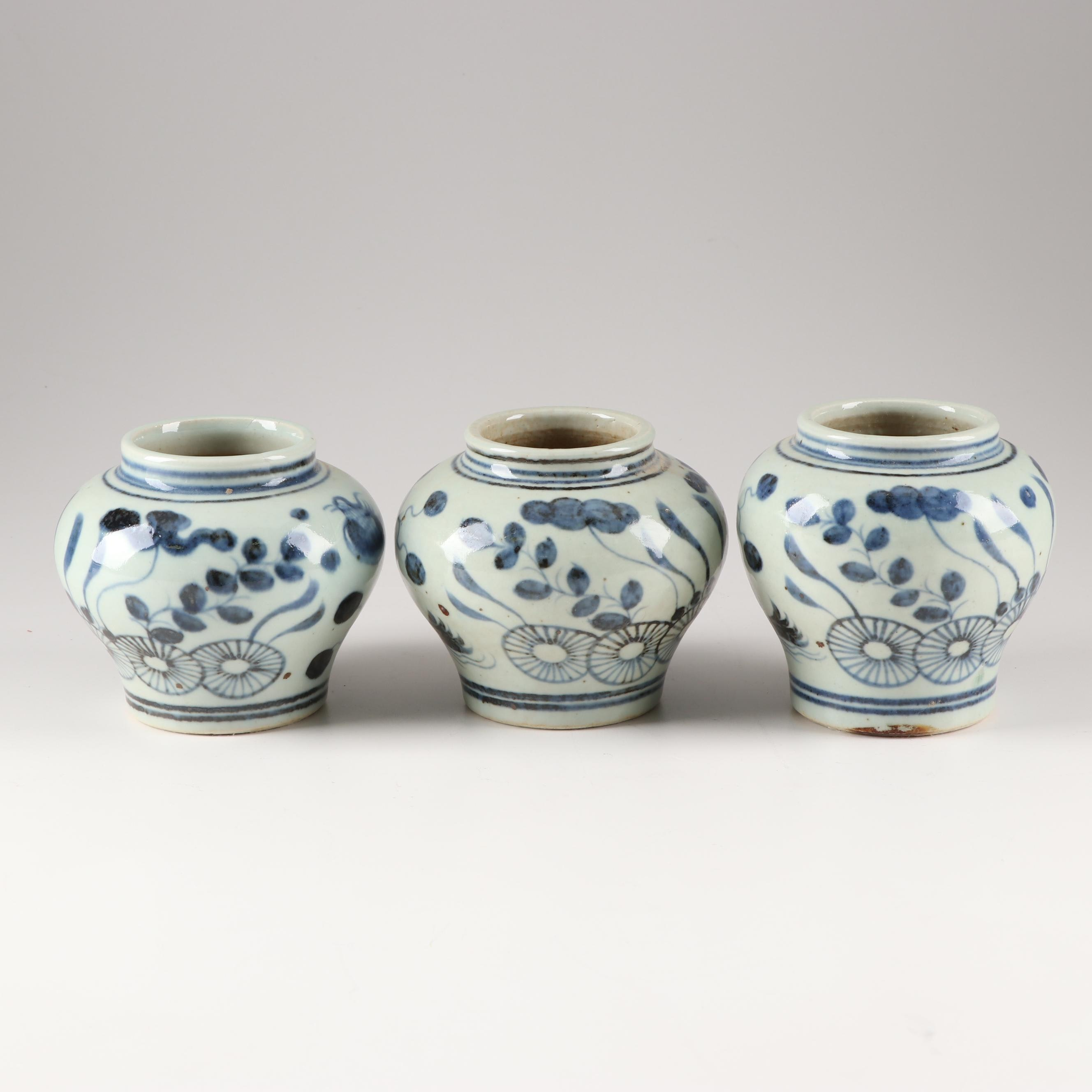 Chinese Hand-Painted Ceramic Vessels