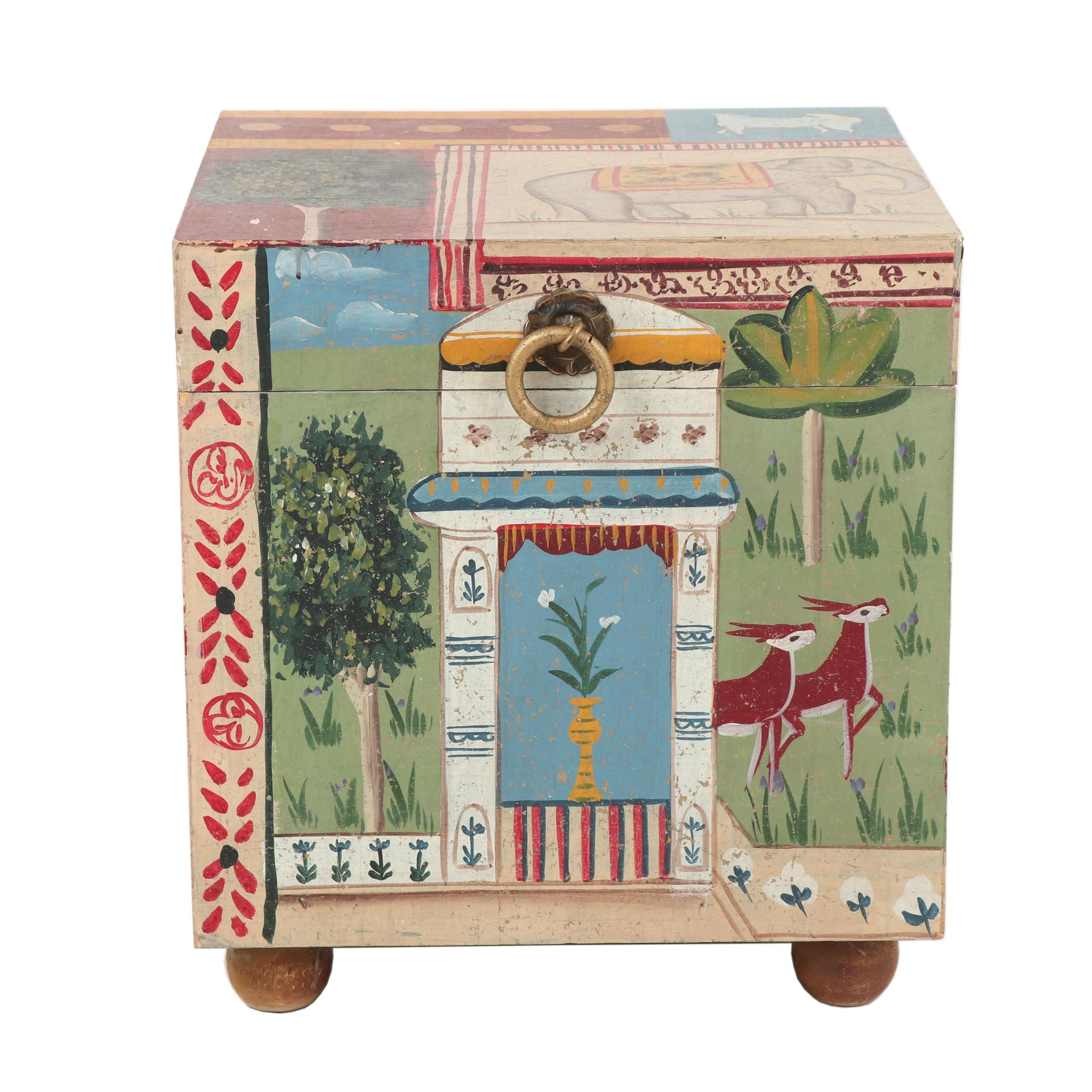 Contemporary Hand-painted Chest