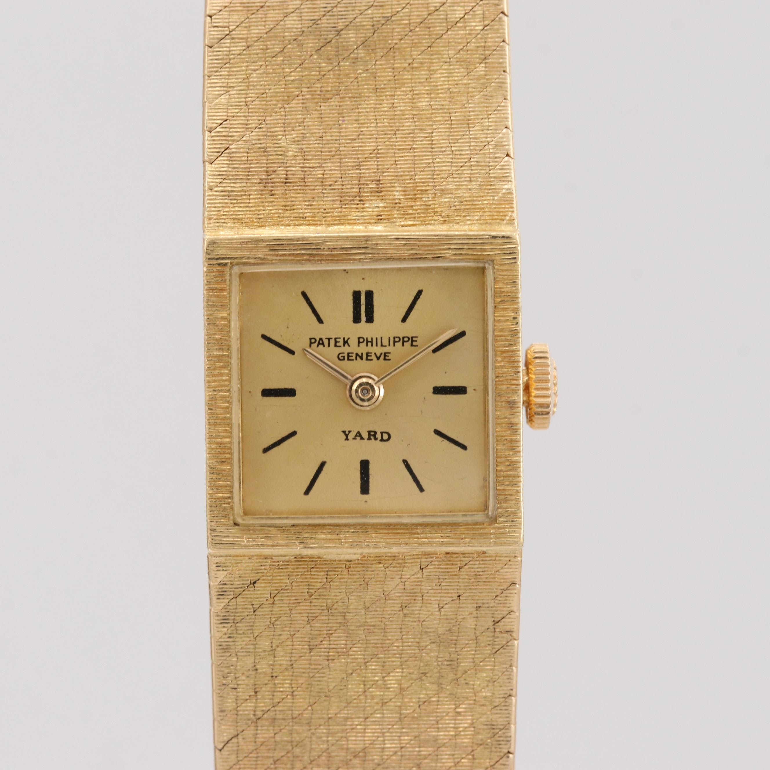 Vintage Patek Philippe 3285/46 18K Yellow Gold Stem Wind Wristwatch