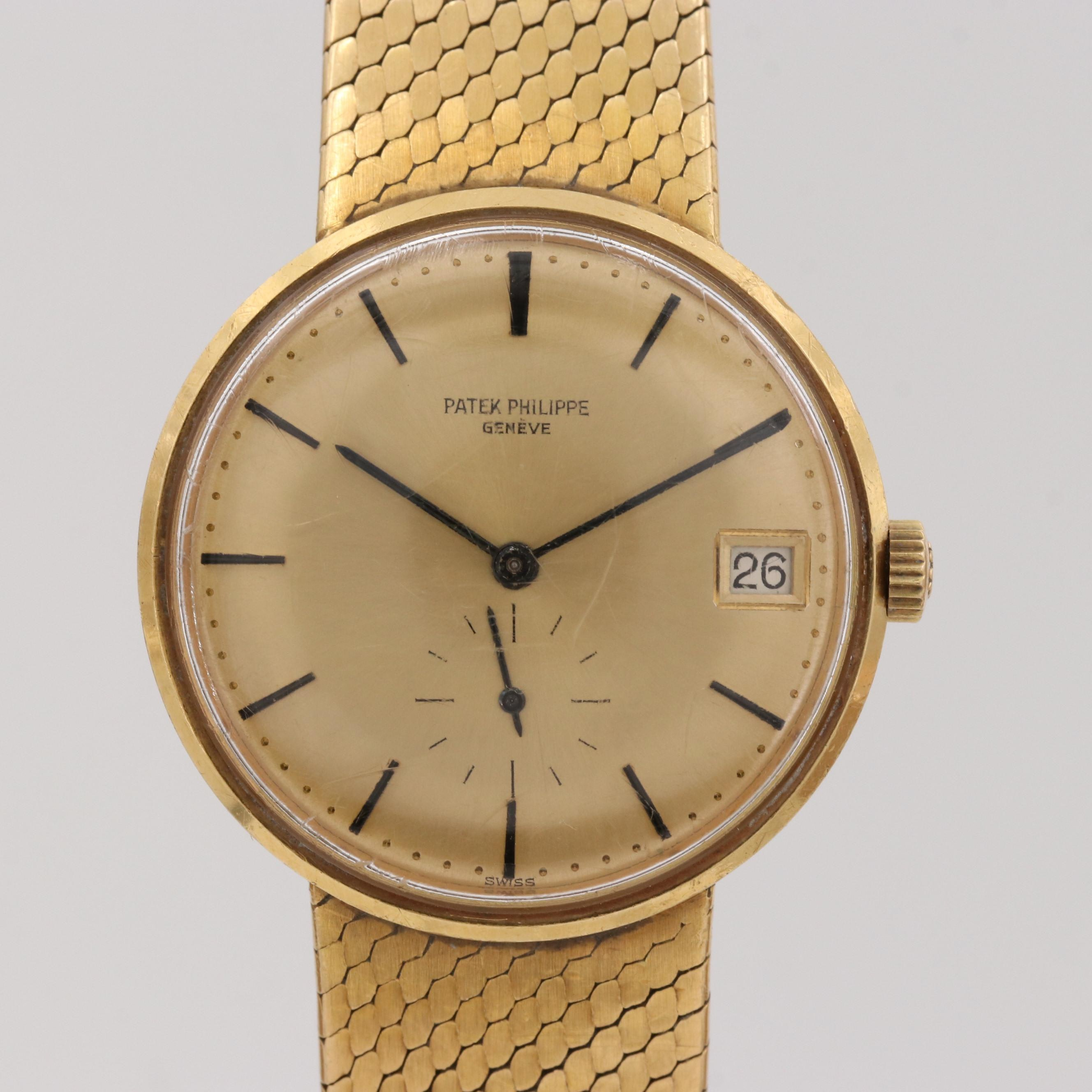 Vintage Patek Philippe Calatrava 18k Yellow Gold Automatic Wristwatch