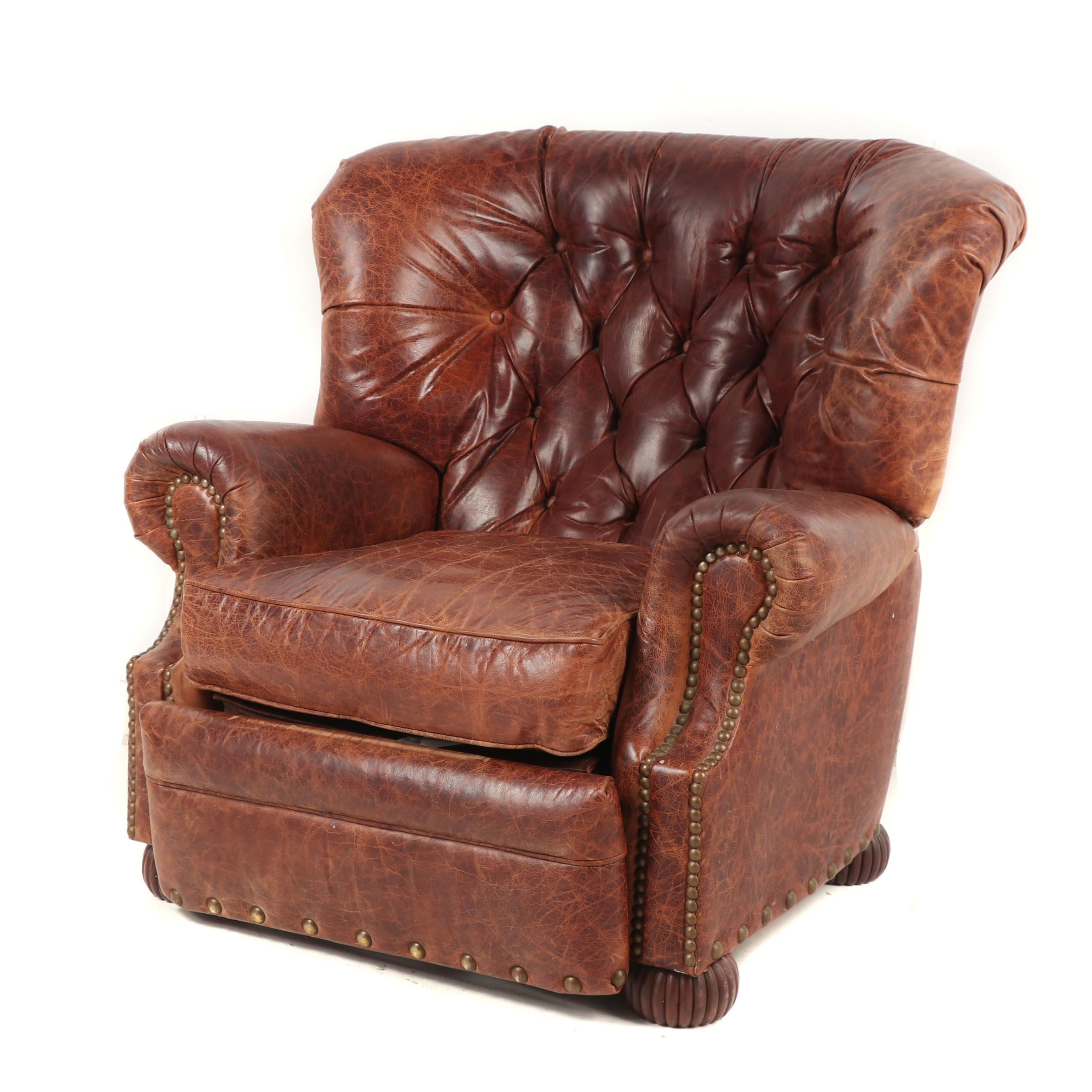 Contemporary Bradington Young Leather Upholstered Recliner