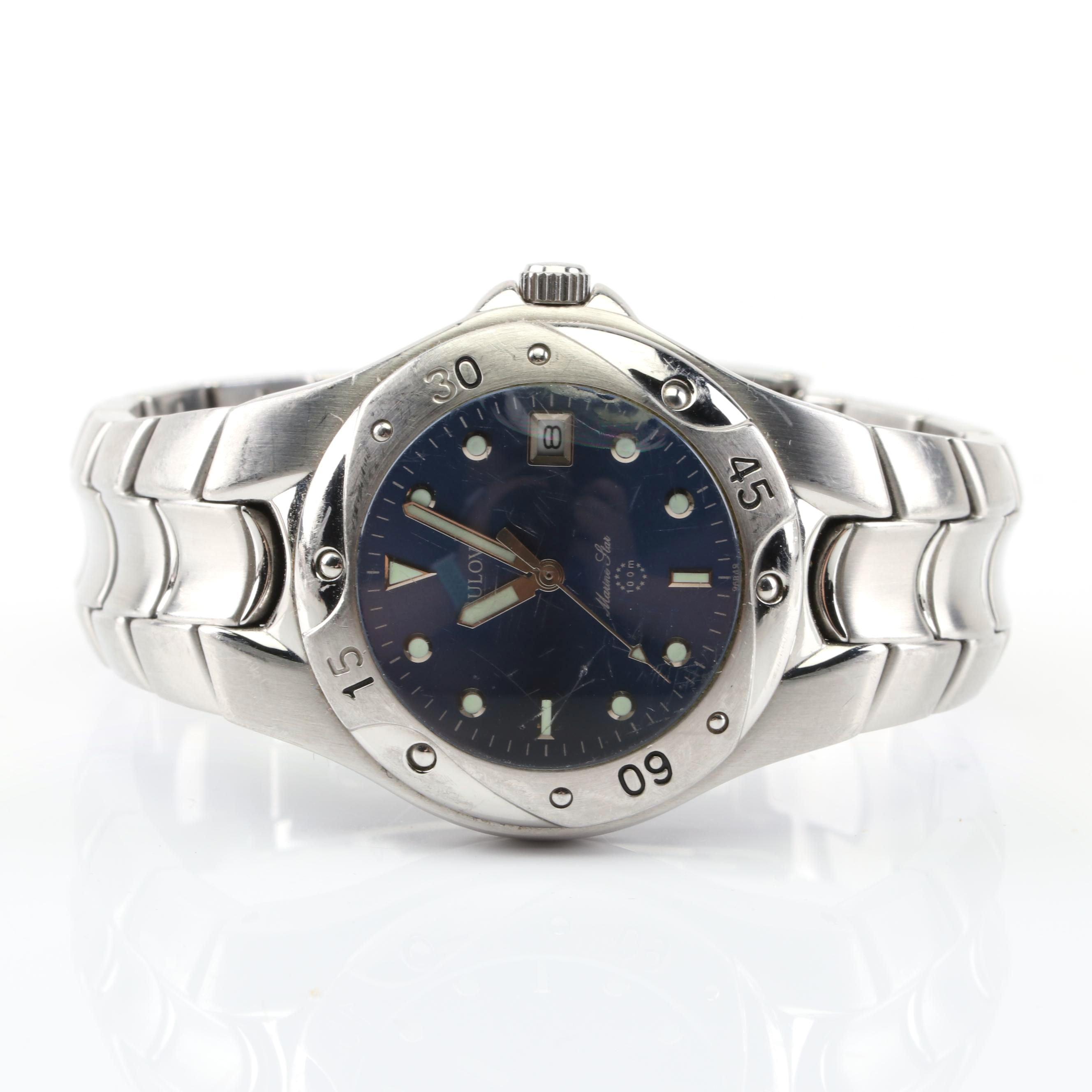 Bulovia Stainless Steel Marine Star Wristwatch