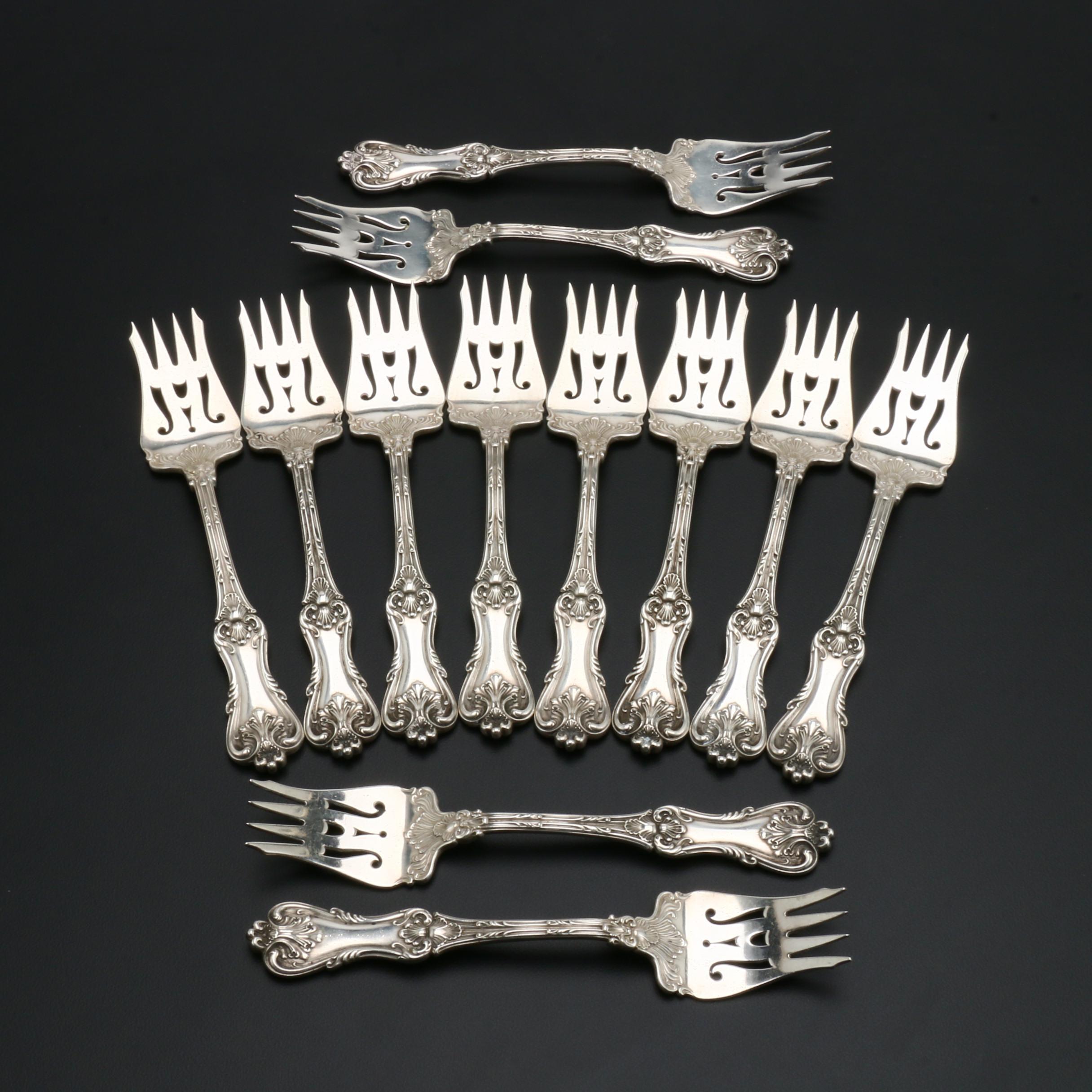 """Frank W. Smith """"Federal Cotillion"""" Sterling Silver Dessert Forks"""