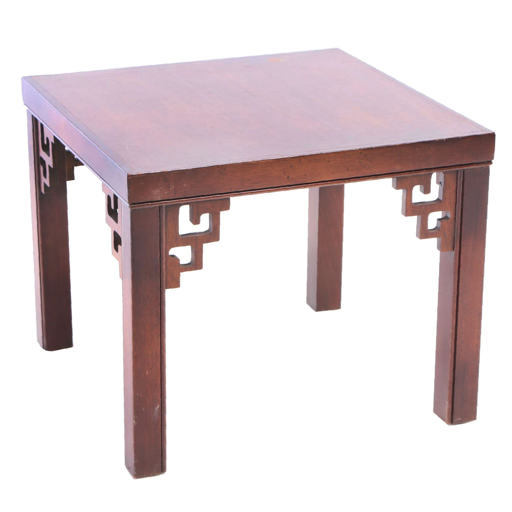 Chinese Style Mahogany Side Table, 20th Century