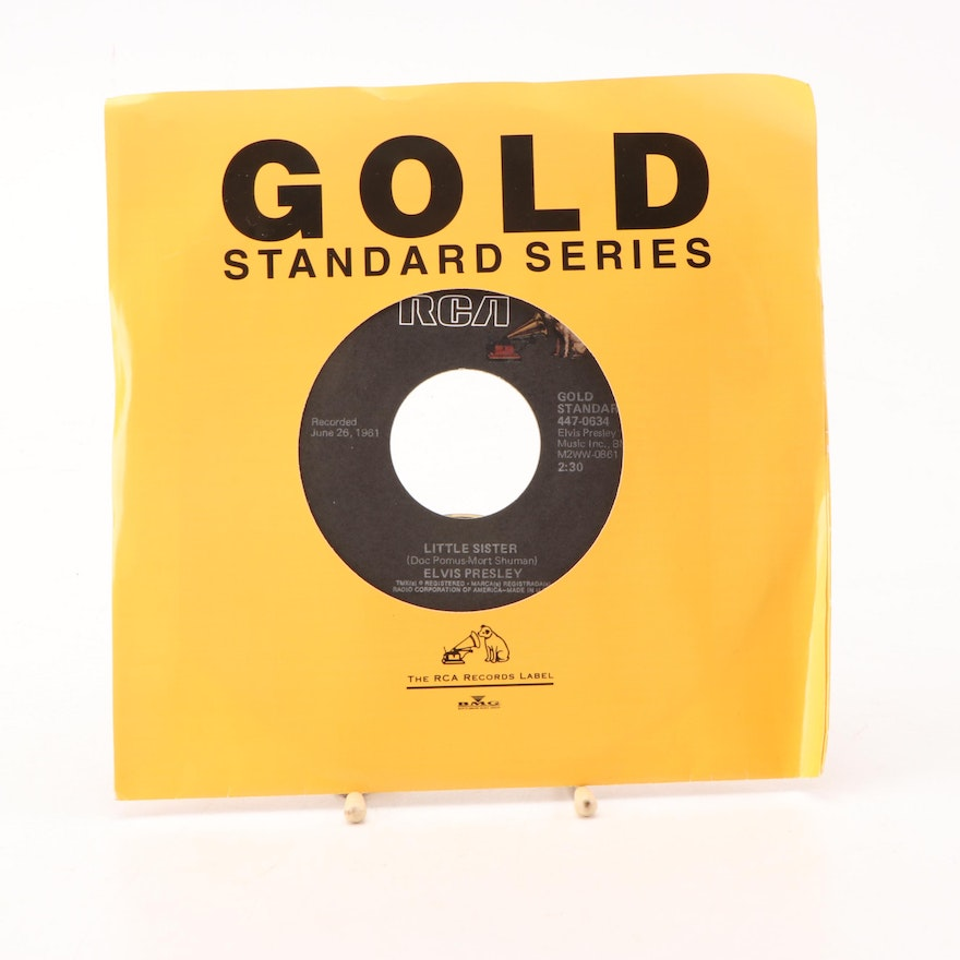 Elvis Presley 45 RPM Singles (Marie's The Name) His Latest Flame / Little Sister