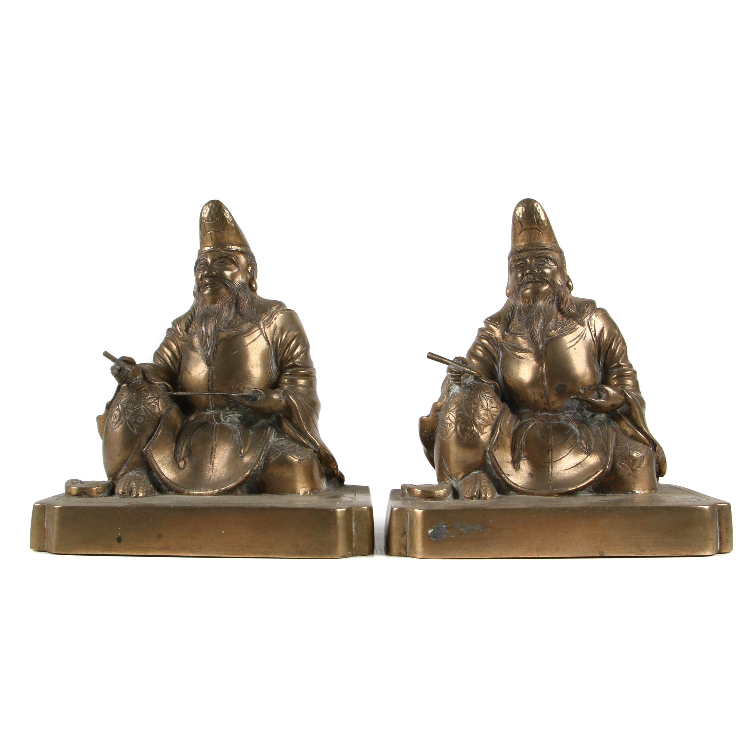 Brass Plated Bookends