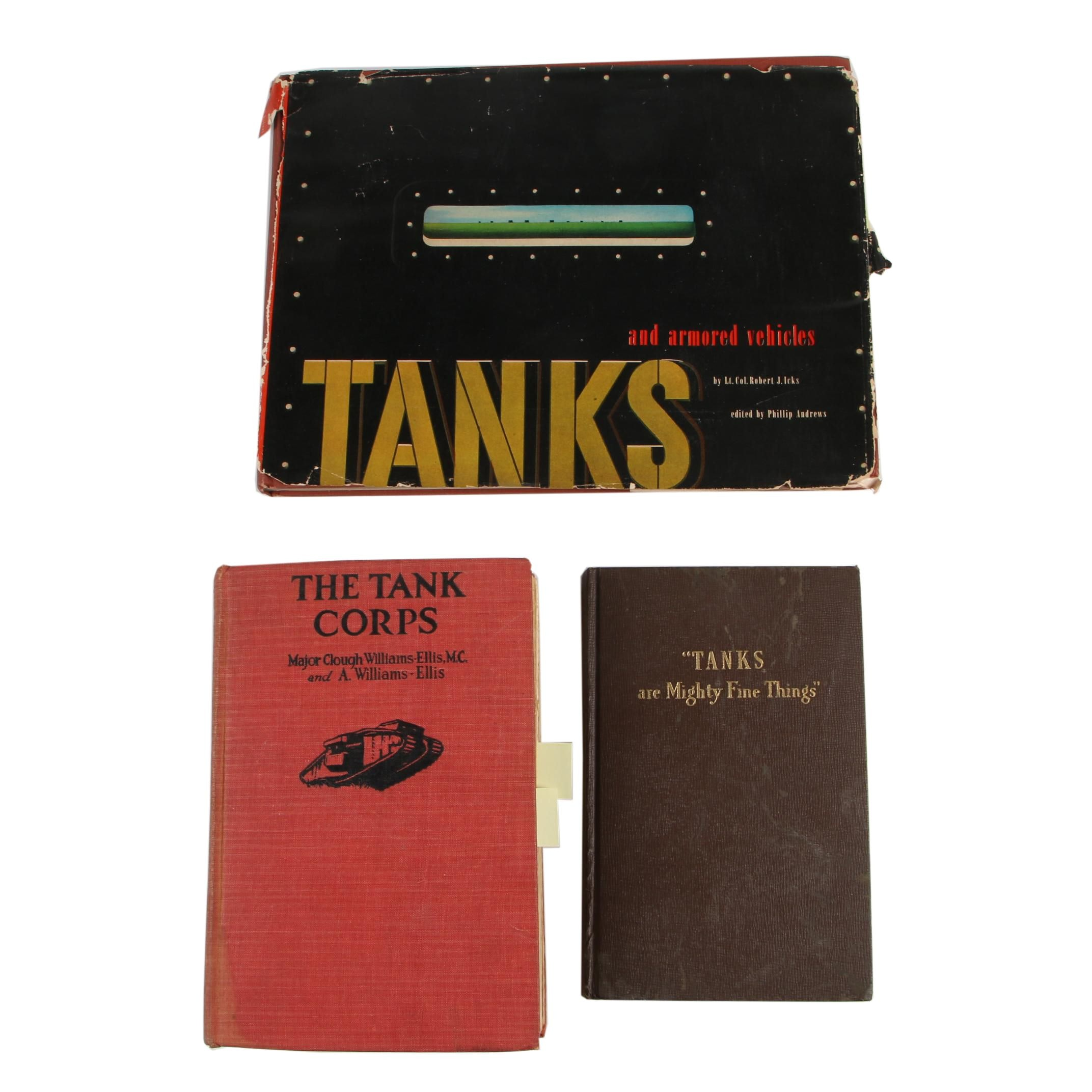 """Books on Military Tanks featuring """"Tanks and Armored Vehicles"""" by Robert J. Icks"""