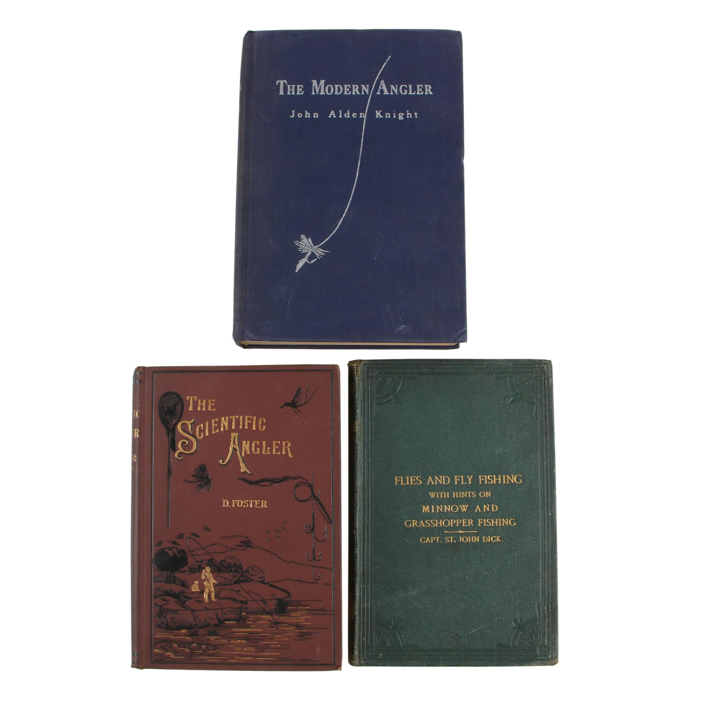 "Fishing Books featuring First Edition ""The Modern Angler"" by John Alden Knight"