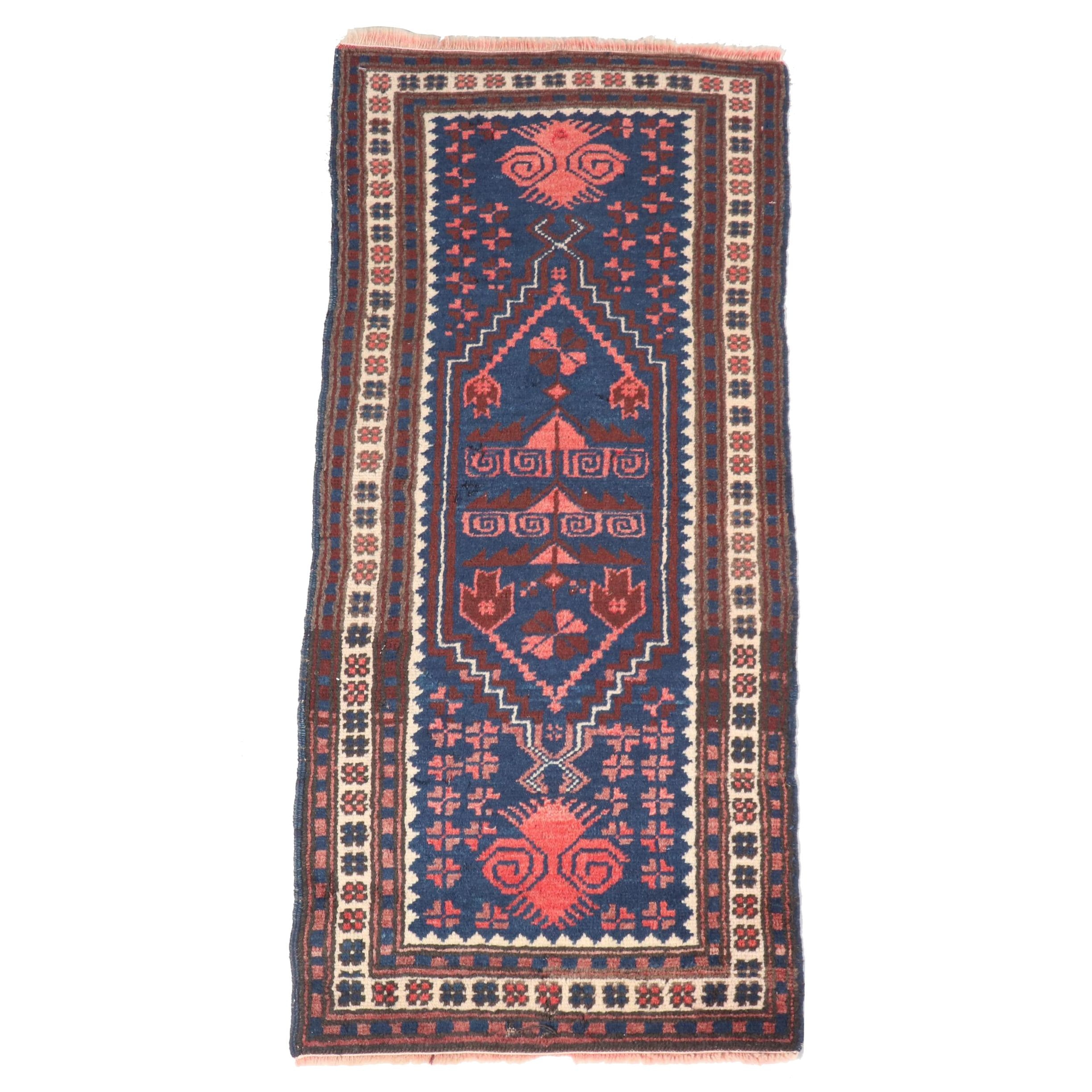 Hand-Knotted Turkish Azari Wool Carpet Runner