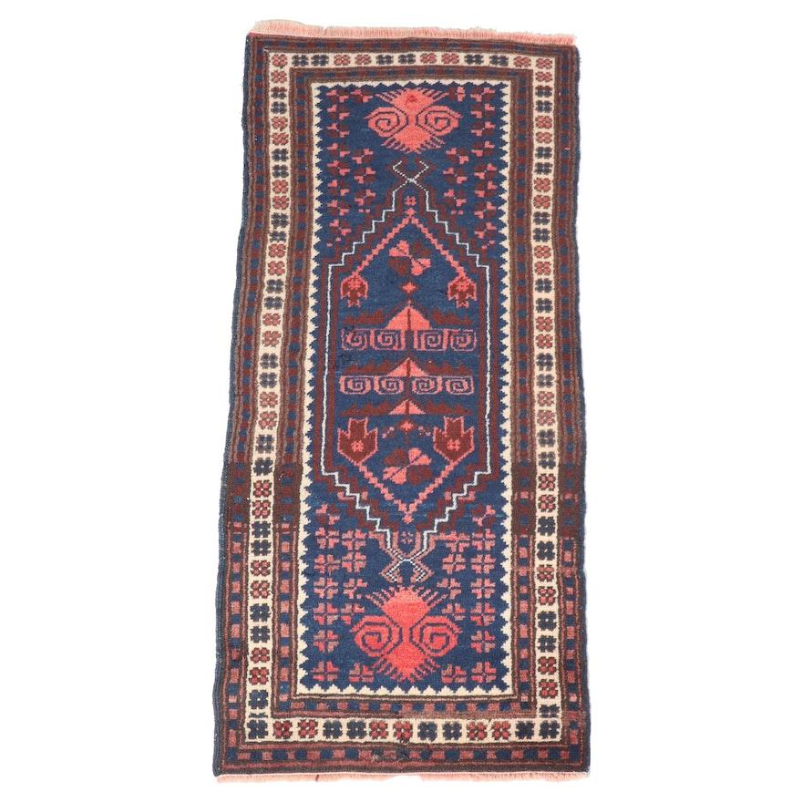 Hand-Knotted Turkish Azari Wool Carpet Runner