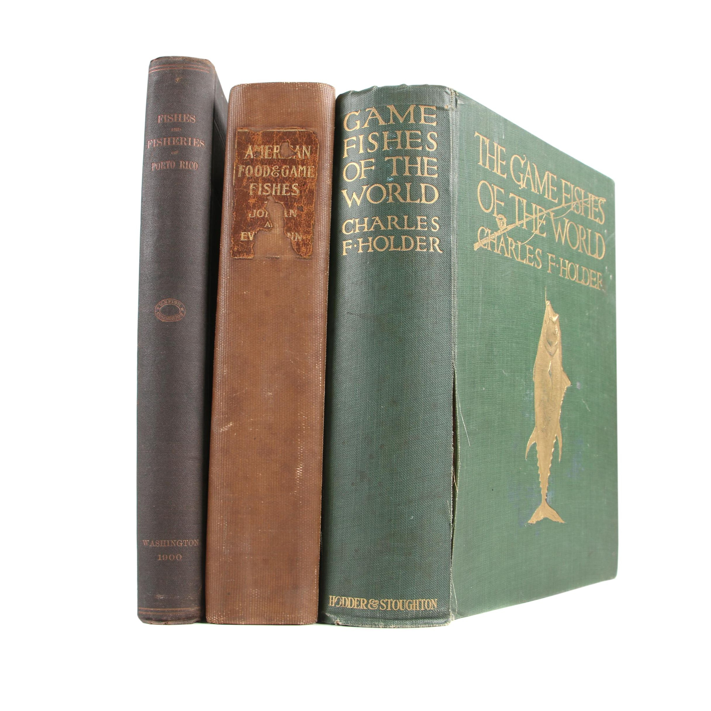 "Books on Fishing featuring ""Game Fishes of the World"" by Charles F. Holder, 1913"
