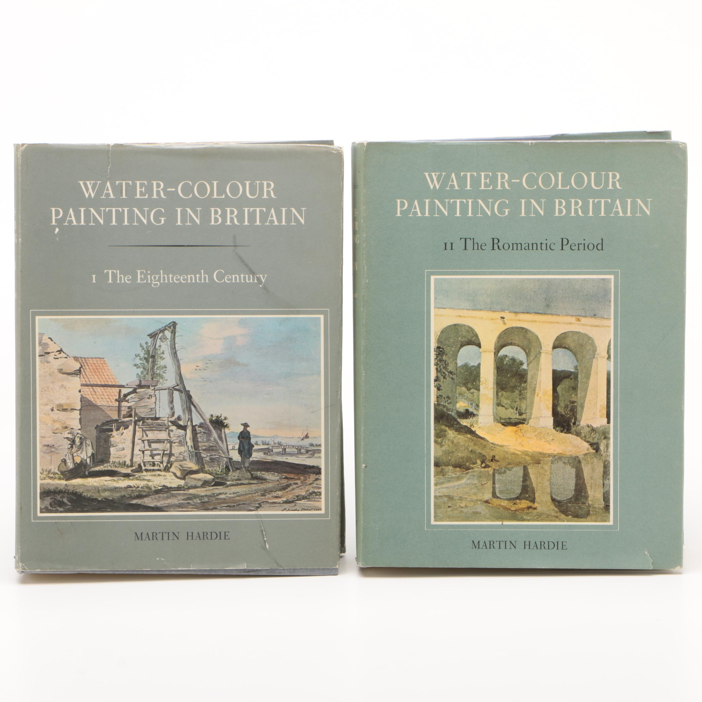 "1967 ""Water-Colour Painting in Britain"" Two-Volume Set by Martin Hardie"