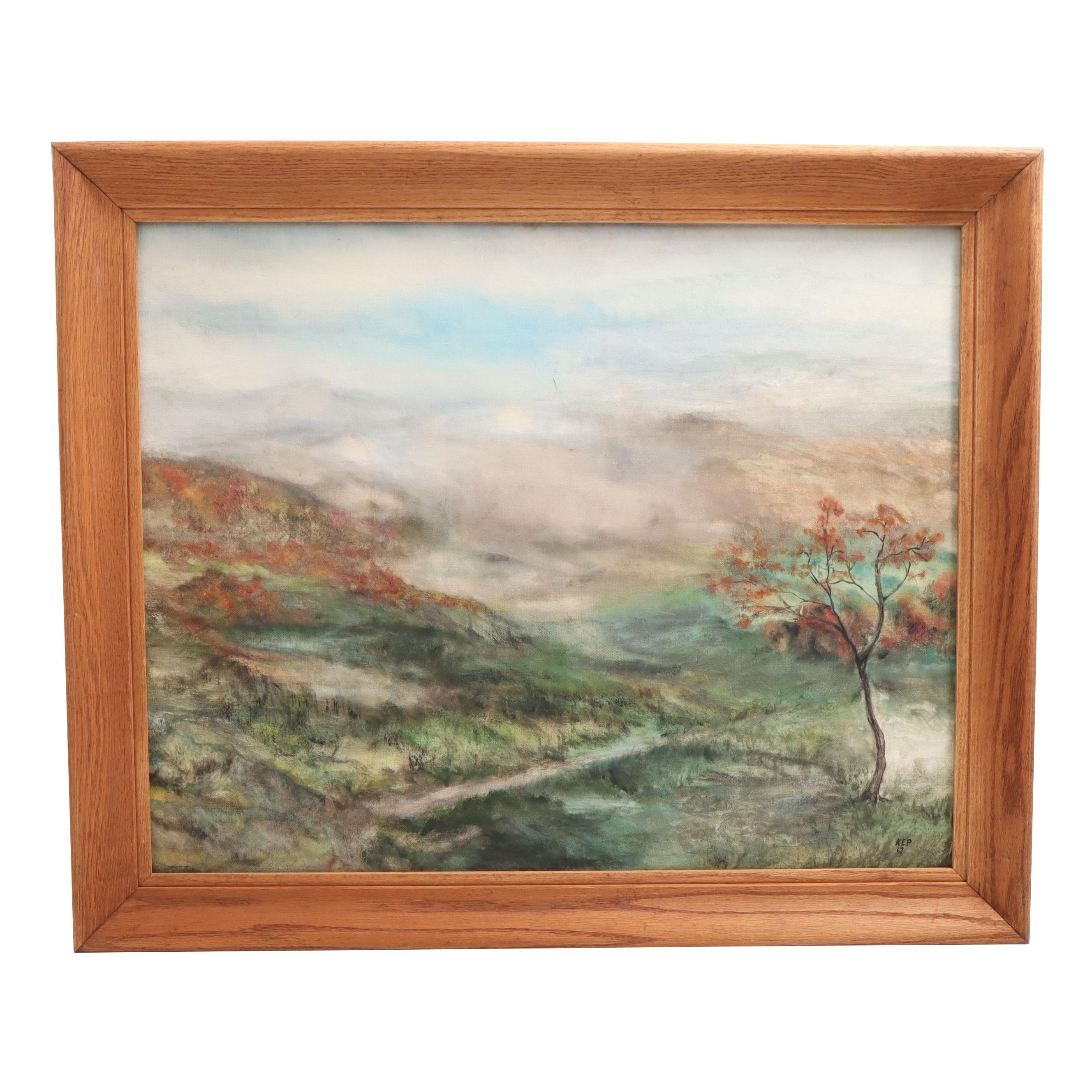 1967 Landscape Oil Painting